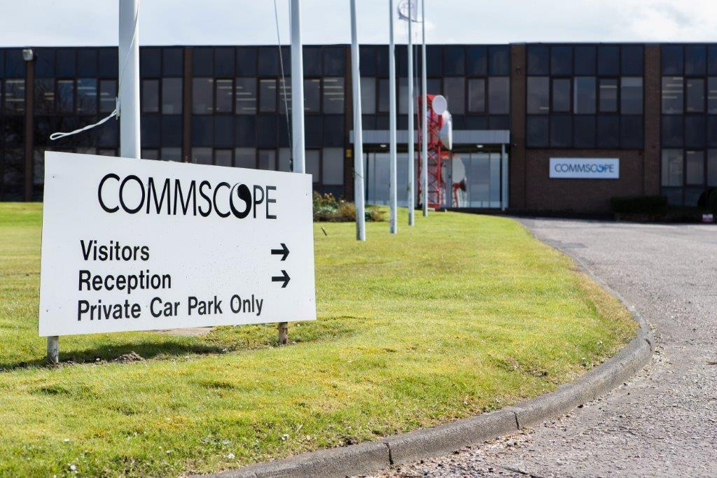 The Commscope base in Lochgelly.