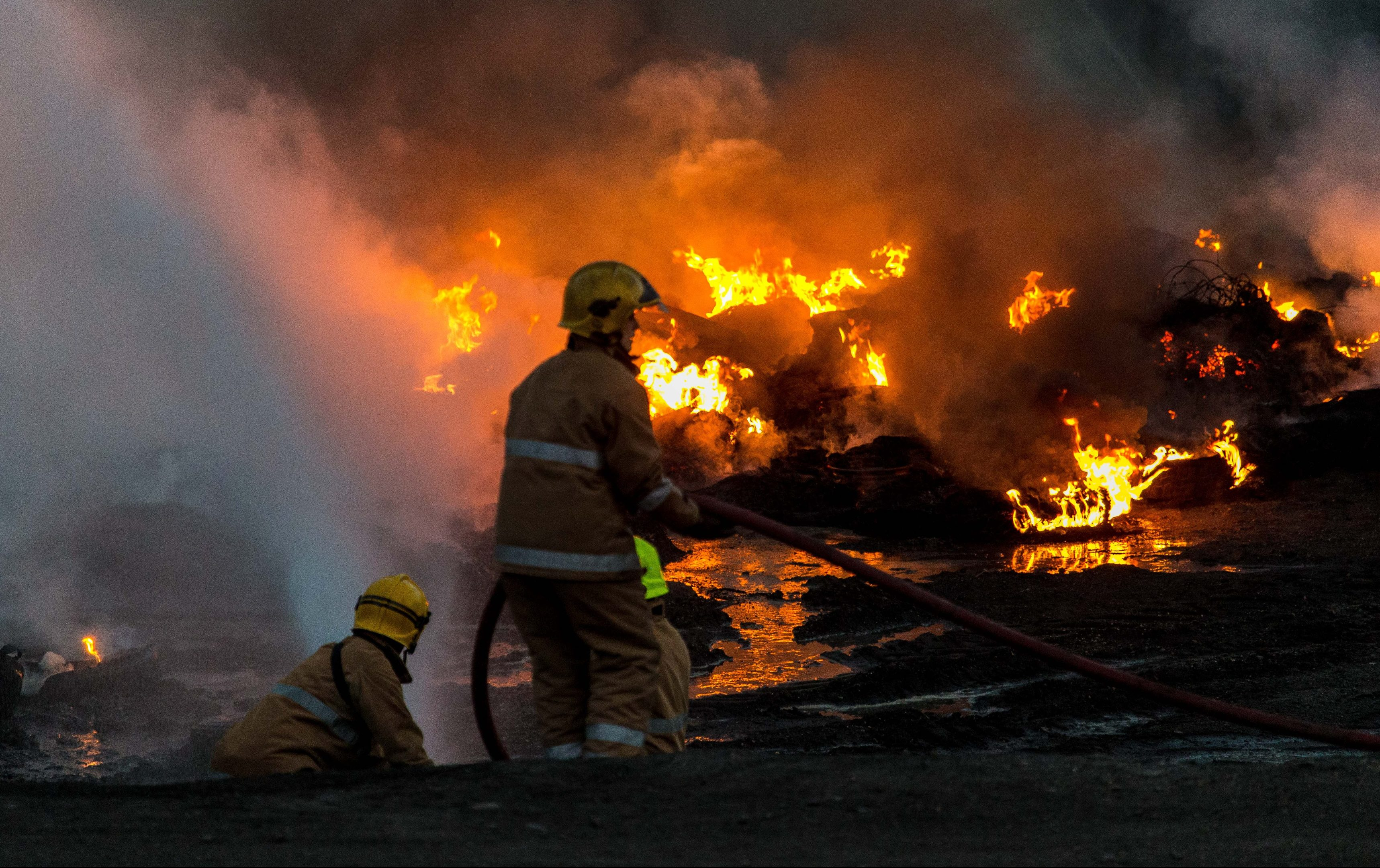 Firefighters tackled a huge tyre fire in Coaltown of Balgonie Bing in Fife earlier this year. But fears have been raised that a lack of standby cover could potentially cost lives.