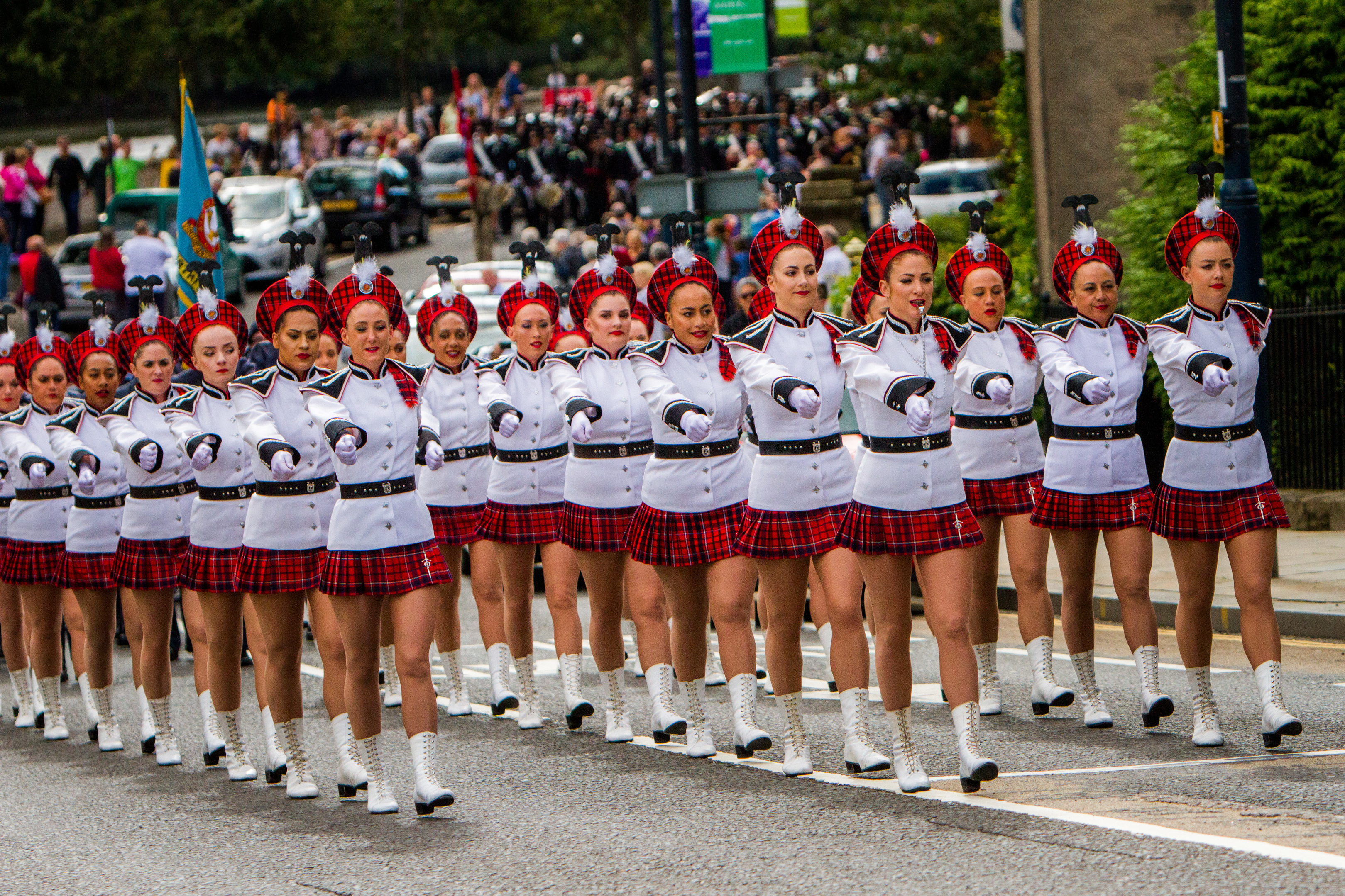 Lochiel Marching Drill Team (the oldest established marching team in New Zealand). Tay Street, Perth.
