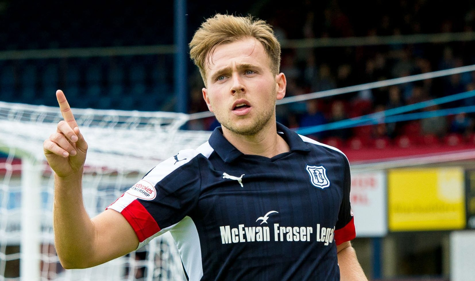 Dundee's Greg Stewart was again in goal-scoring form against Forfar — much to  one punter's delight.