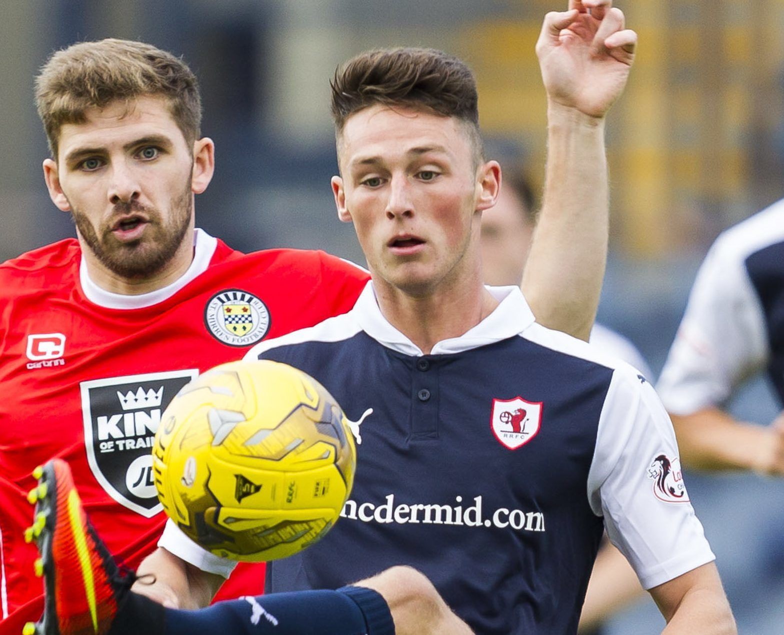 Jordan Thompson in action for Raith.