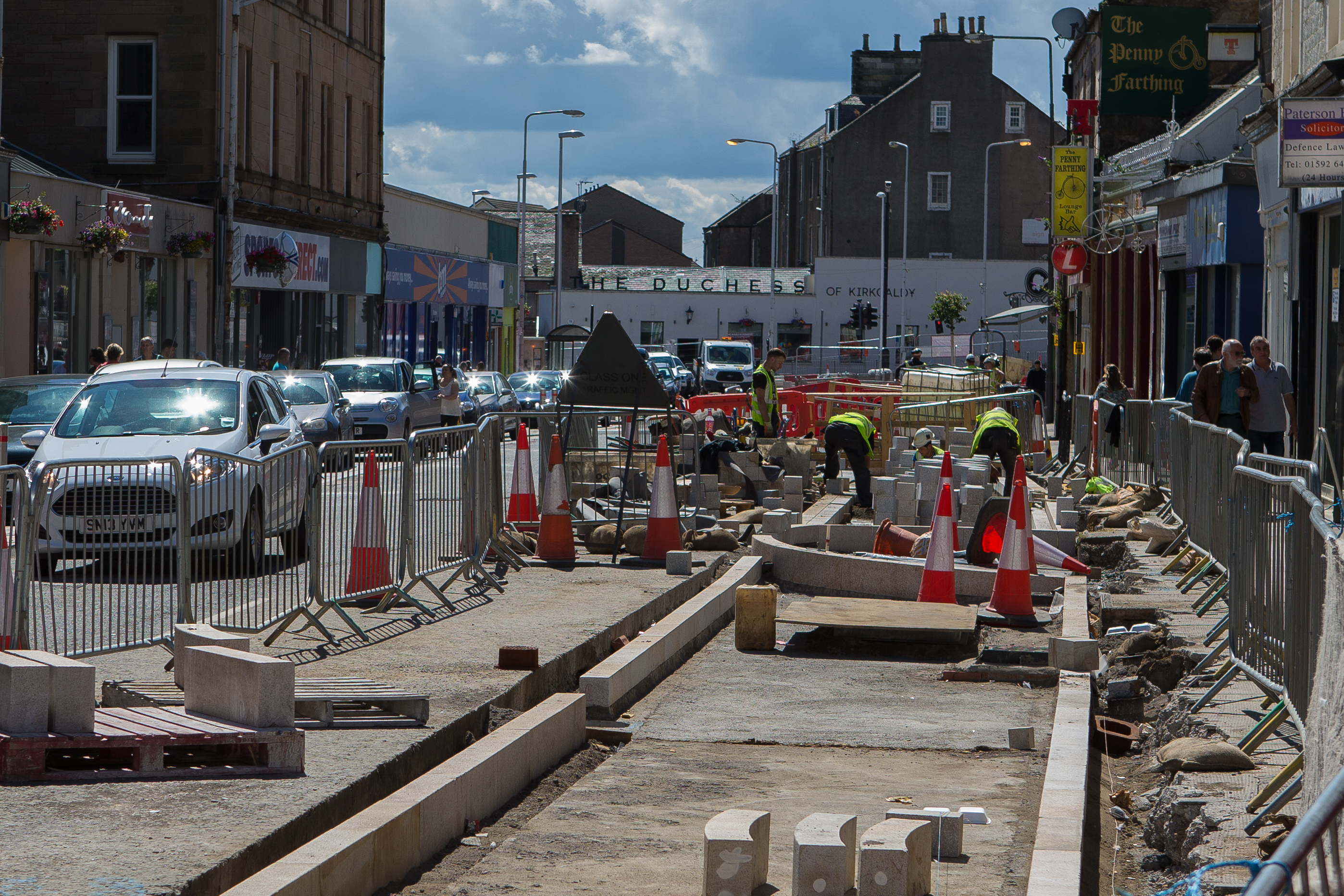 High Street improvement works started in January