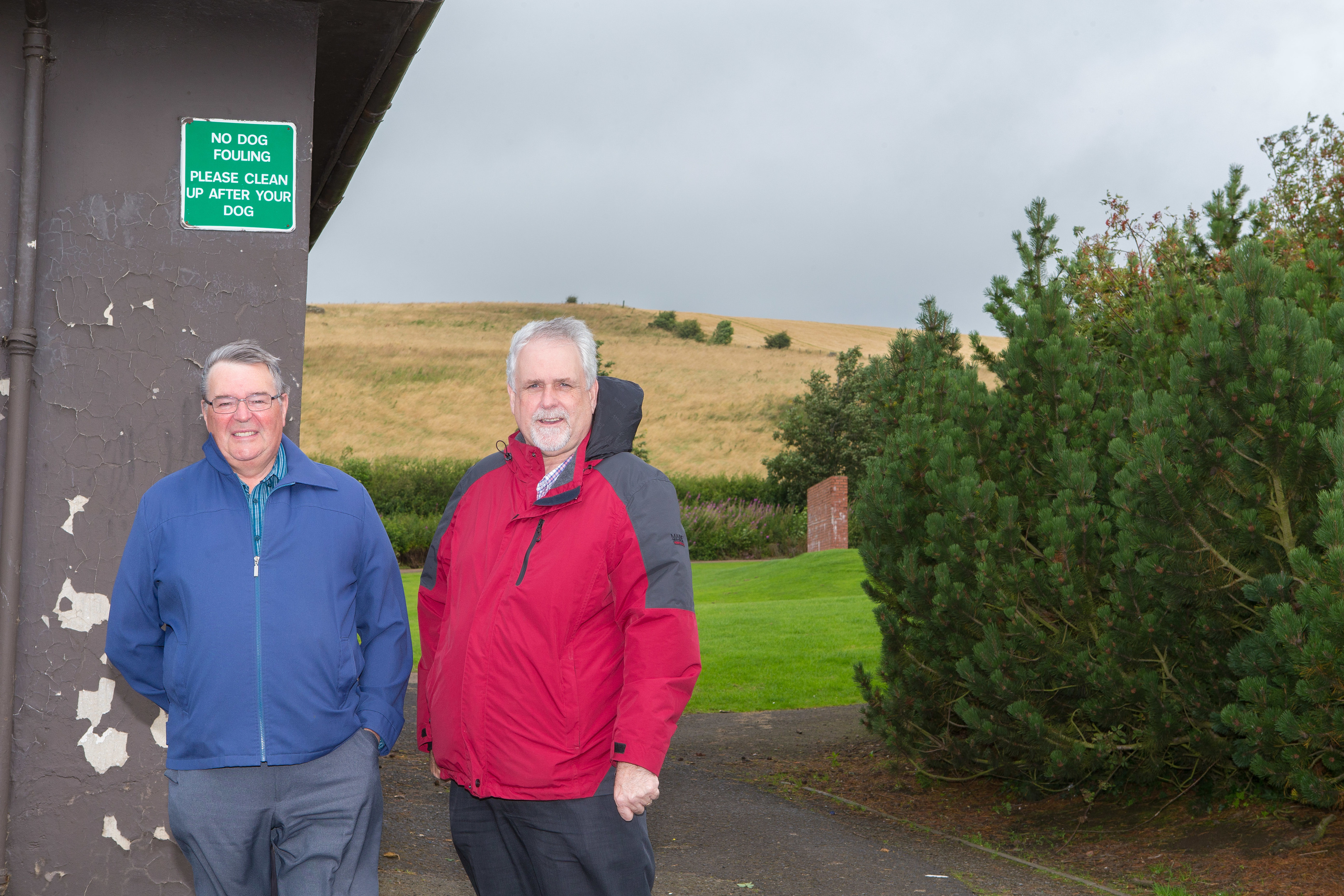 Councillor Bill Brown and local resident Gordon Mitchell are concerned about the amount of dog mess and litter in Kinglassie.
