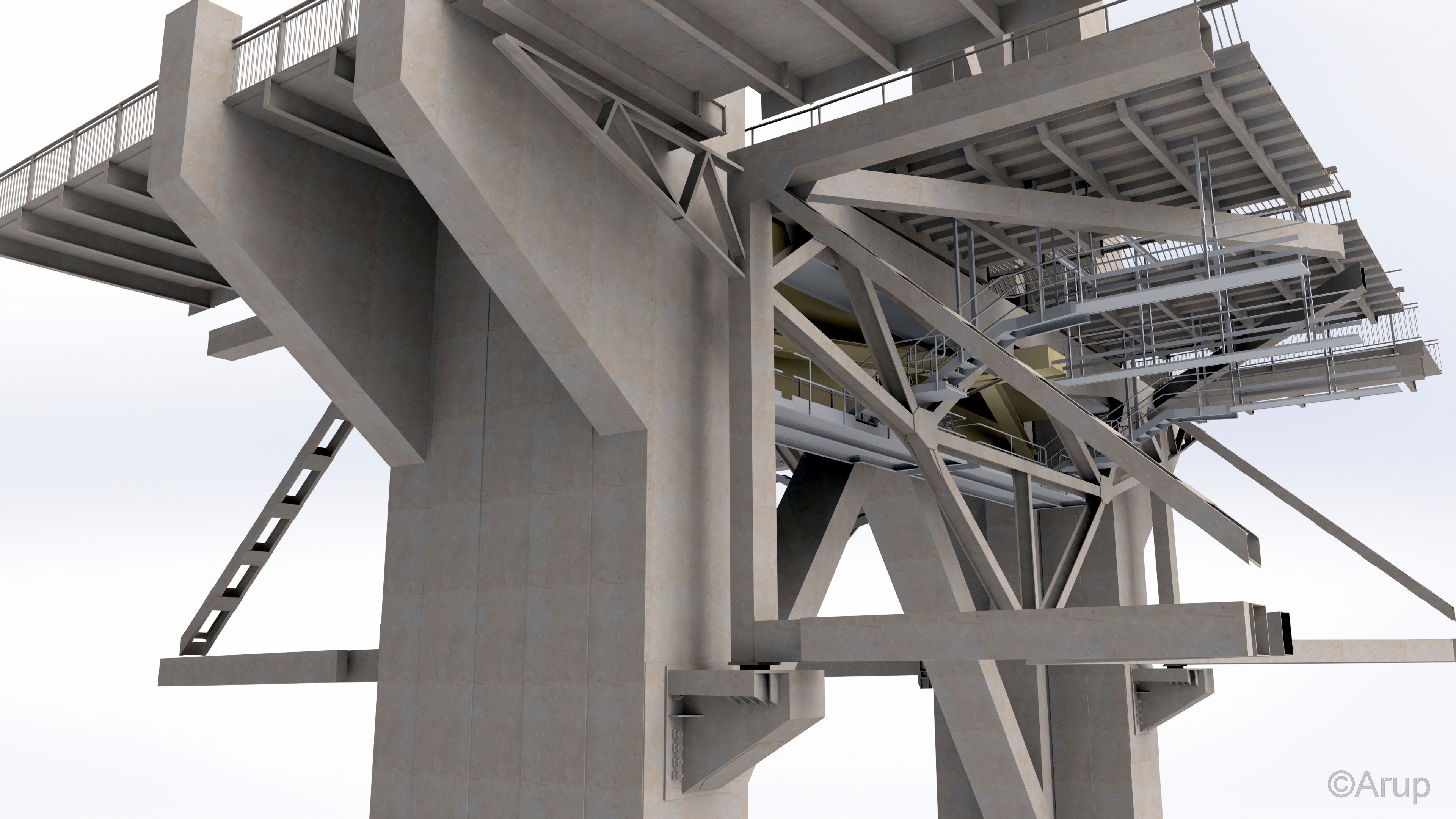 Schematic showing completed Forth Road Bridge truss end link replacement