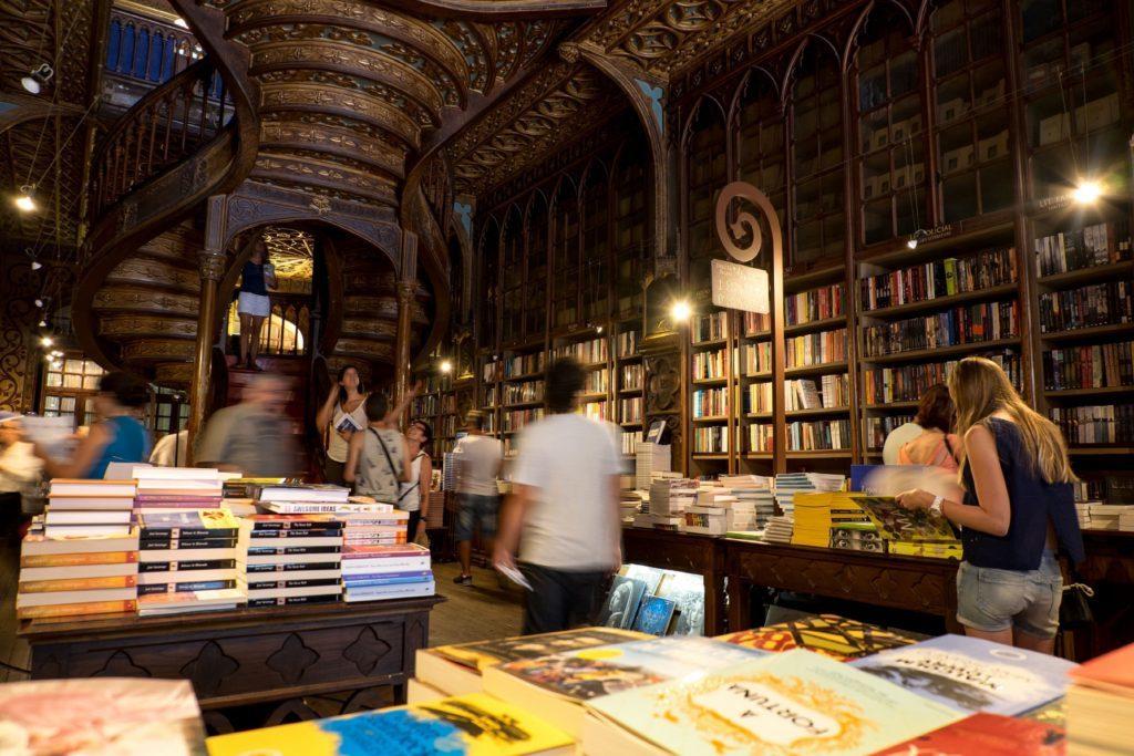 Livraria Lello book store, Porto, Portugal.