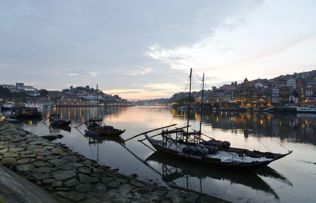 Porto at night.