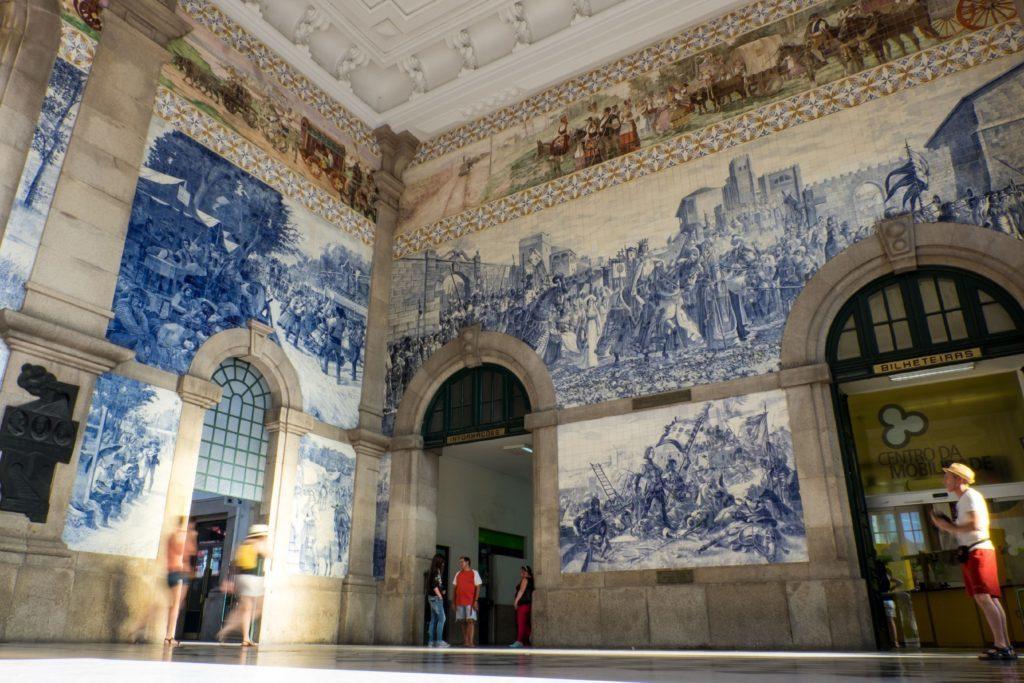 Sao Bento train station, Porto, Portugal.