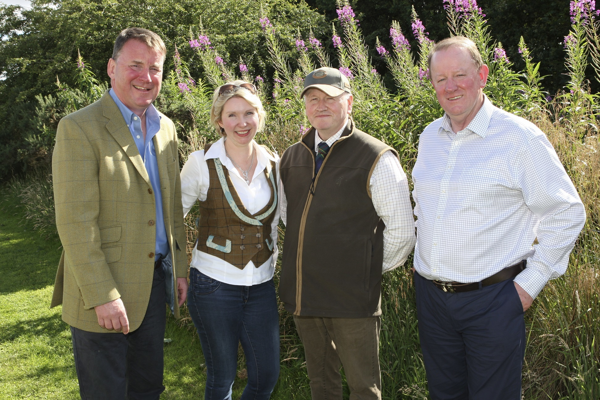 Shoot Charitable Trust trustees Wille Allan, Fay Bancewicz, Grant Yorke and Gerard Eadie.