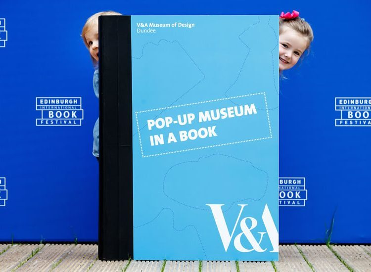 The museum in a book proved a hit with the kids.