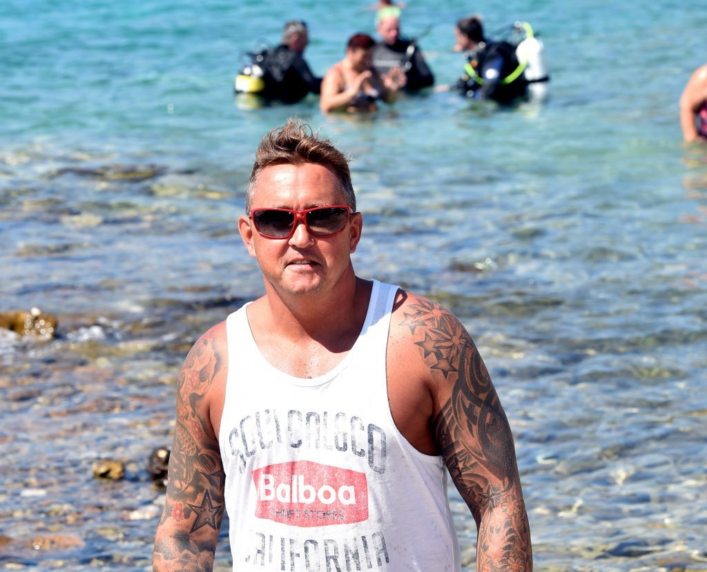 WO2 Steve Lawrence of Dundee at Tisno beach