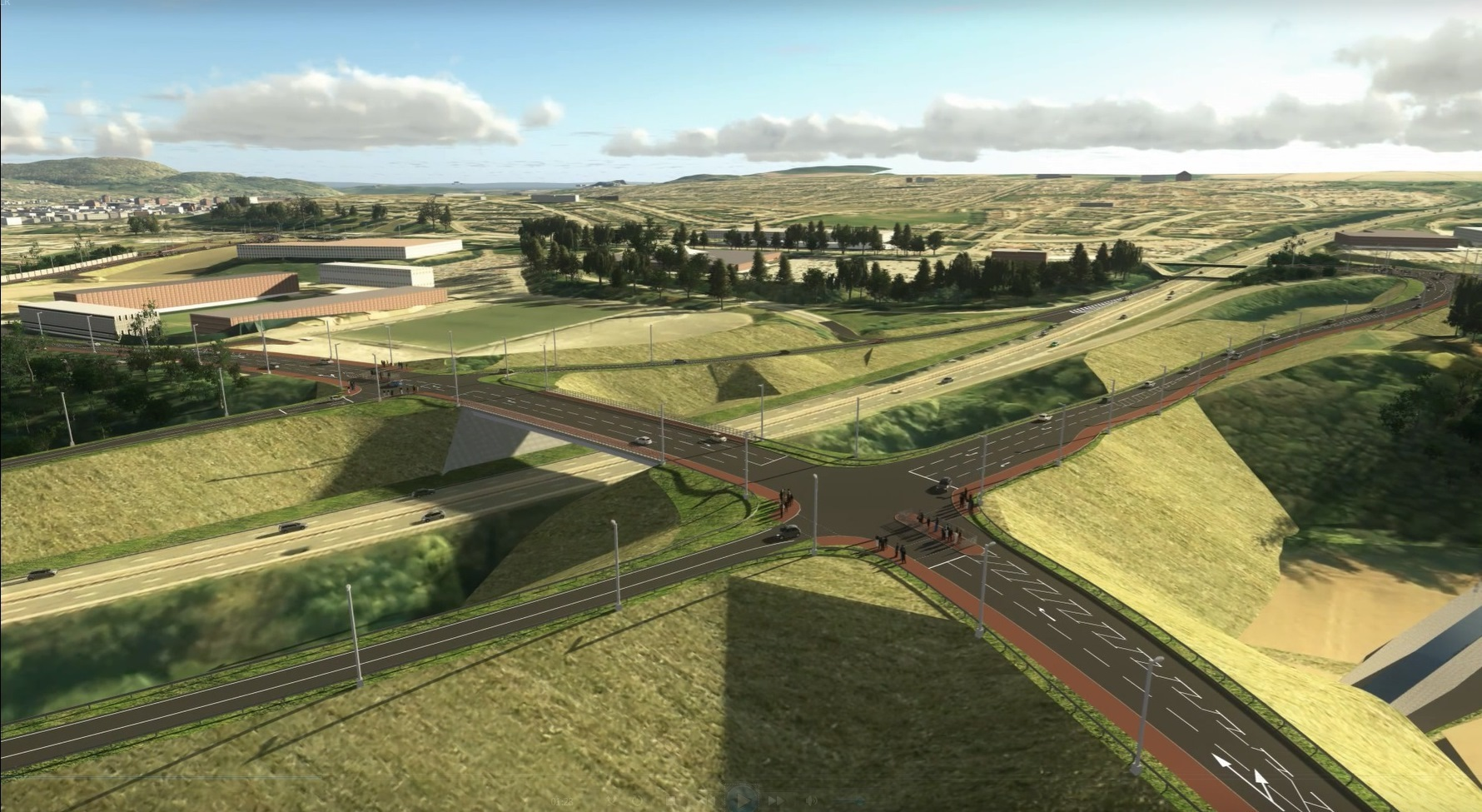 Artists impressions of the new roads.