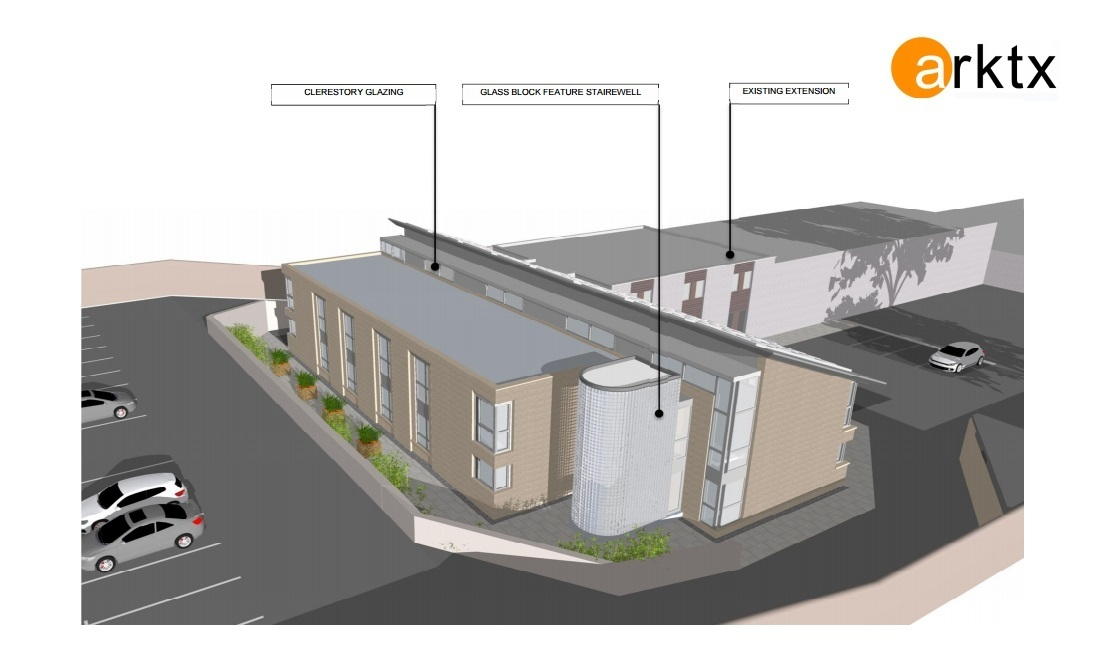 The proposed new extension.