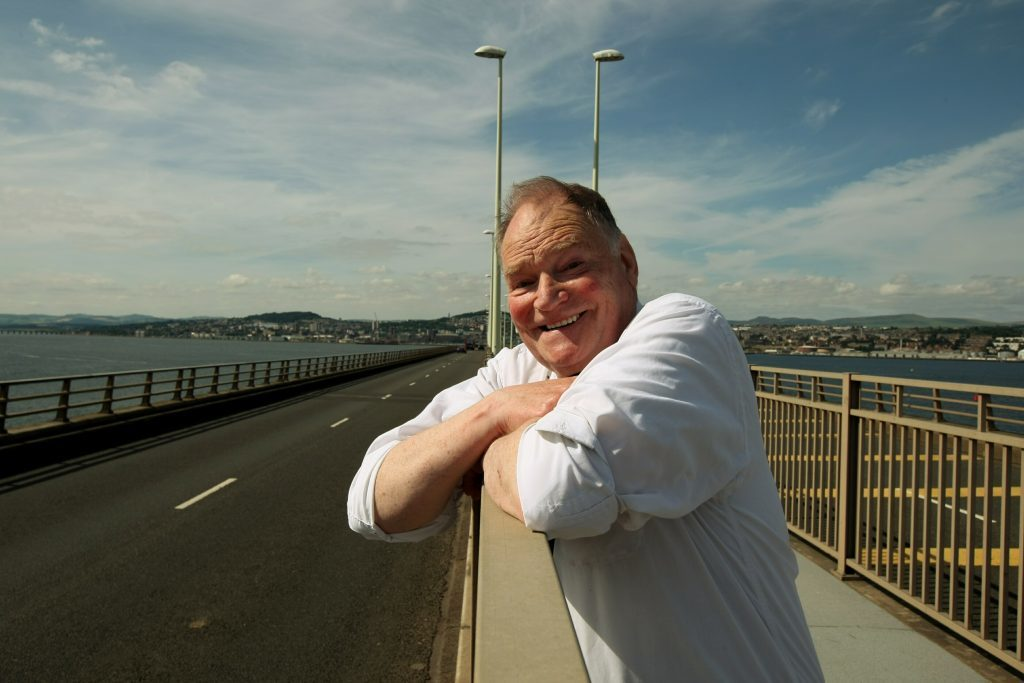 Hugh Pincott watches traffic from the Fife side of the Tay Road Bridge