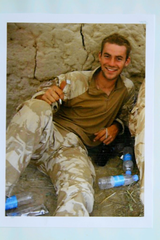 Former Black Watch soldier Aaron Black from Blairgowrie, who committed suicide whilst suffering from Post Traumatic Stress Disorder.