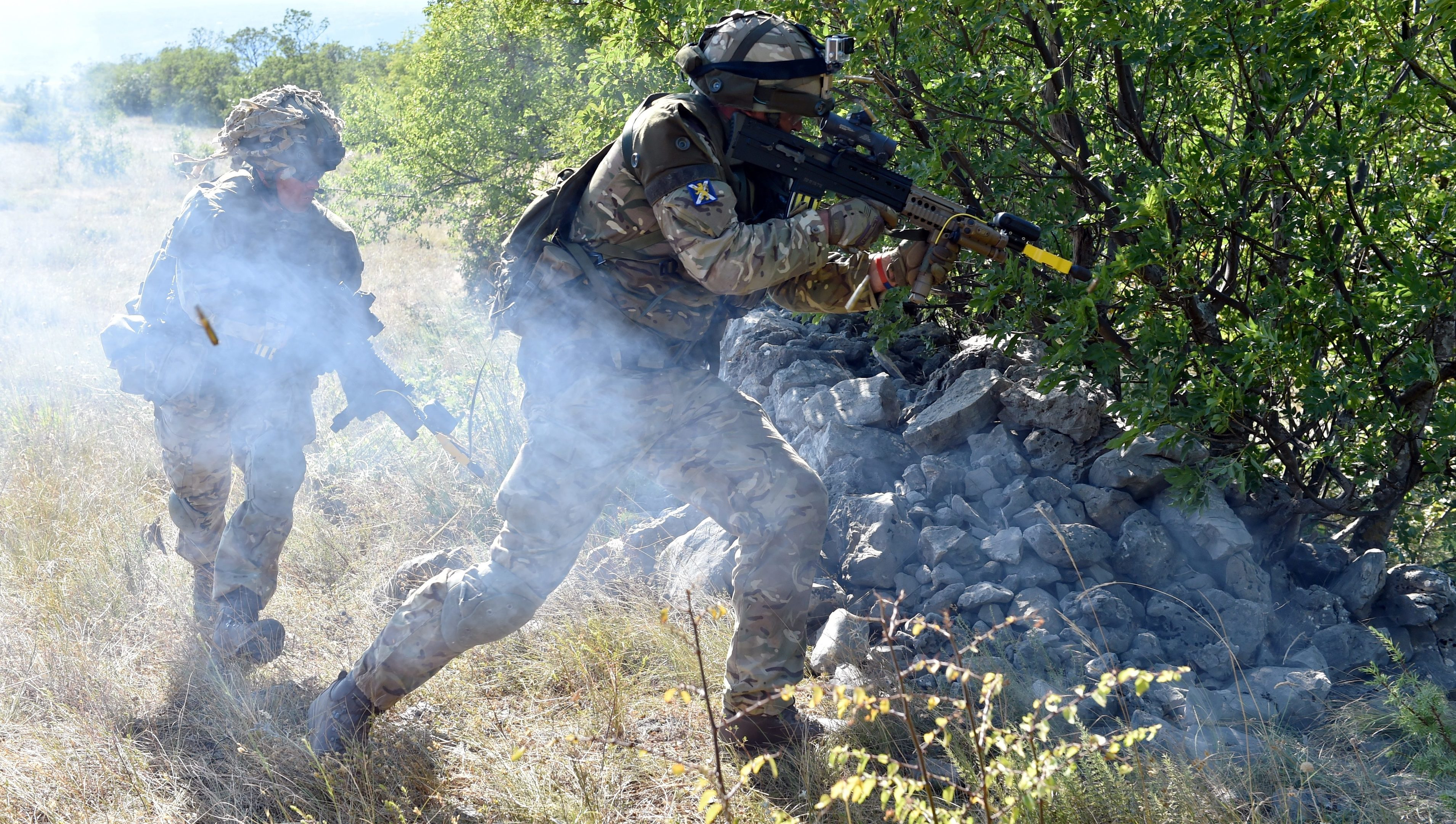 51st Highland, 7th Battalion, Royal Regiment of Scotland, 7 SCOTS;  Exercise Sava Star at Red Earth training facility, Croatia.