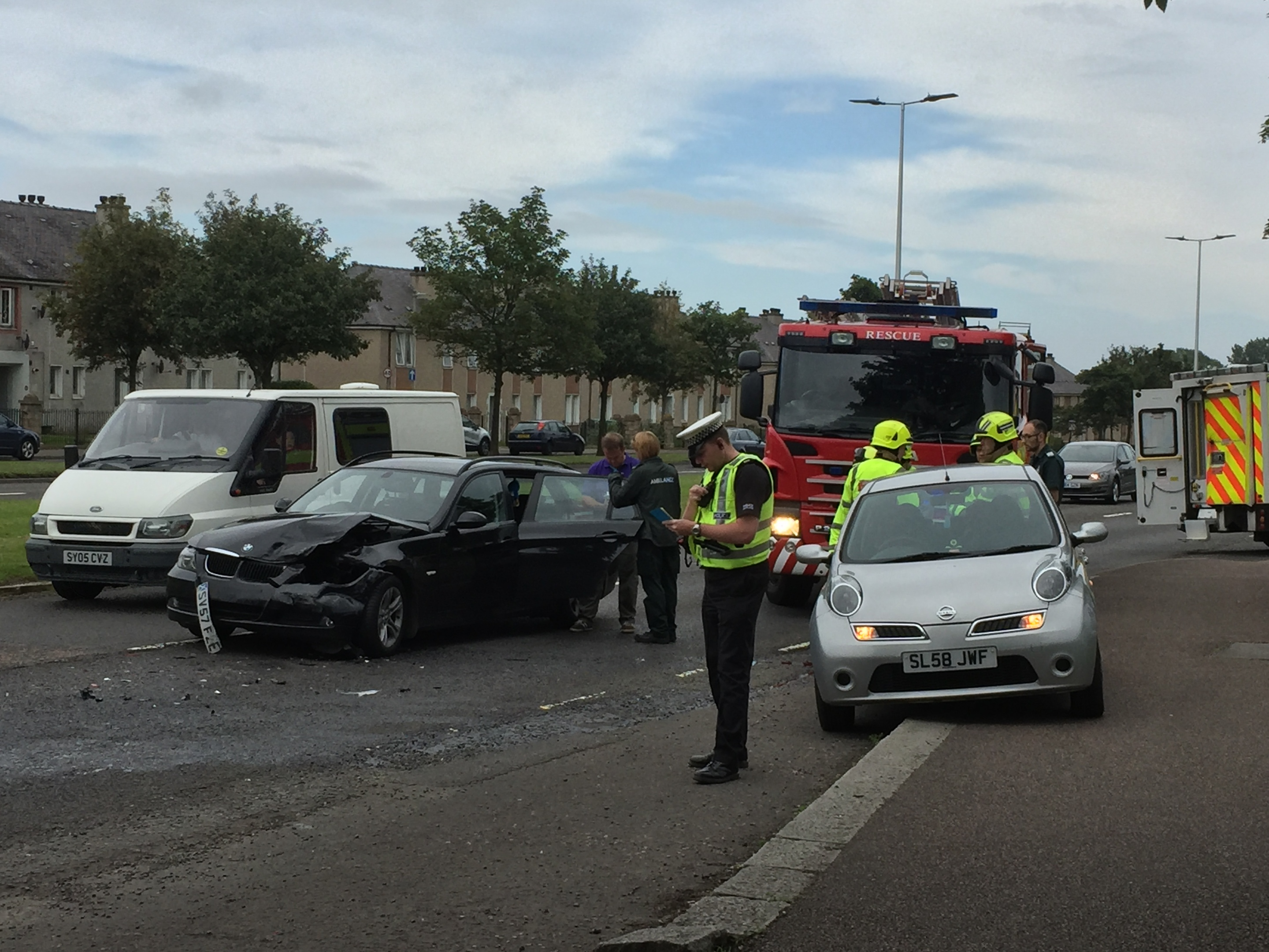 Despite emergency services attending, no one was harmed in the crash.