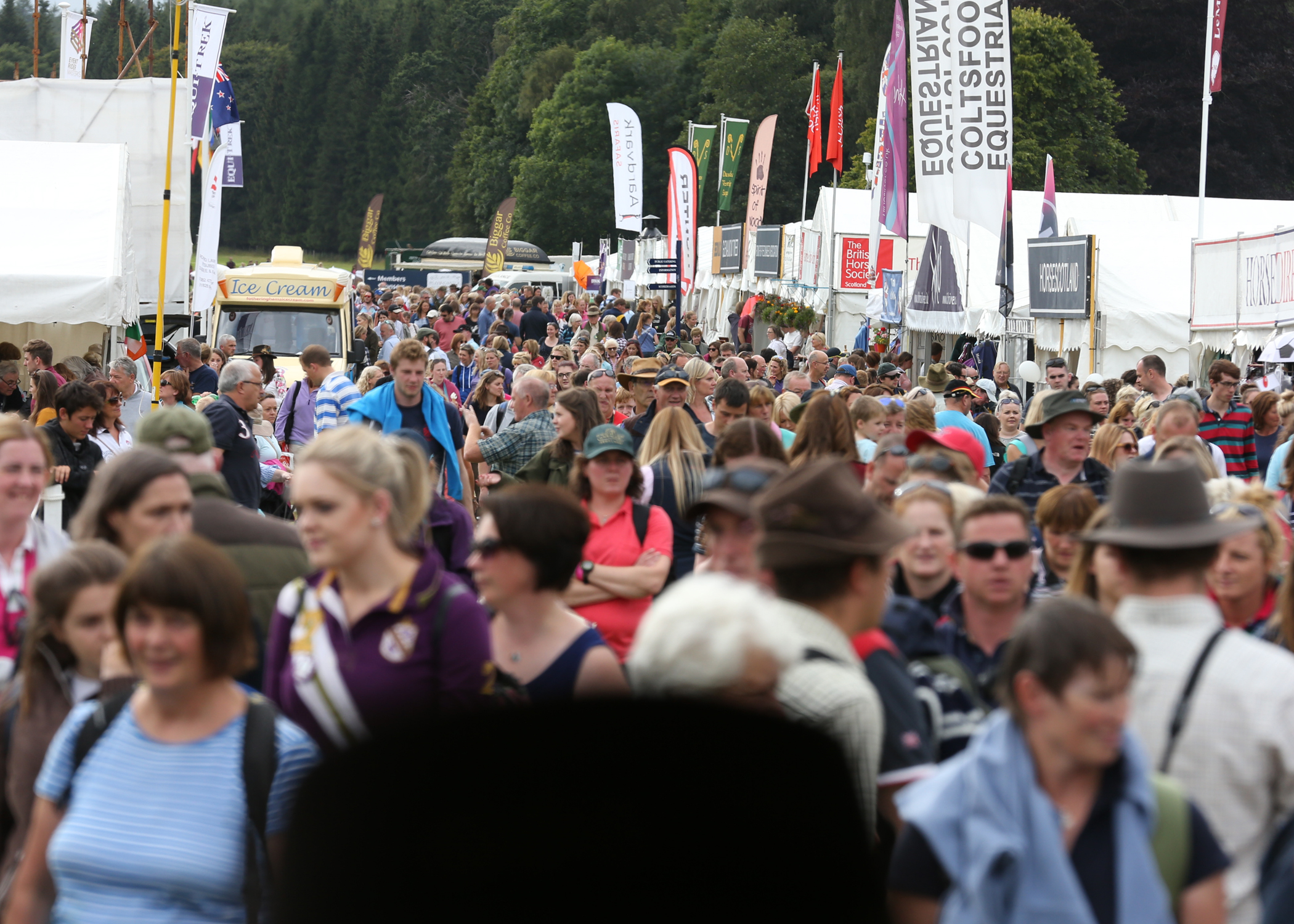 Huge crowds attended the horse trials.