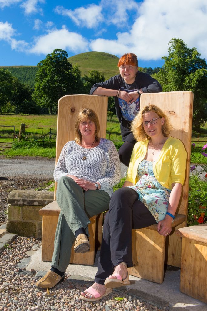 Debbie Cranmer at the back with Audrey Peebles left) and Helen Lawrenson