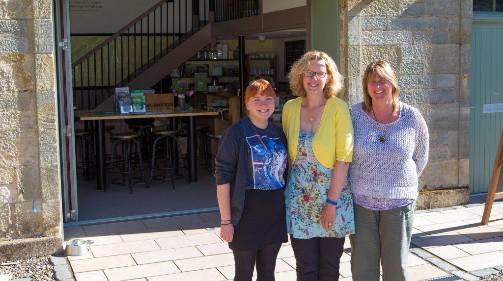 Debbie Cranmer, Helen Lawrenson and Audrey Peebles