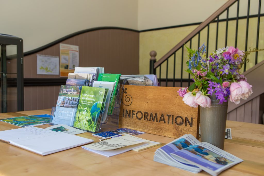 New information centre at The Stables on Falkland Estate
