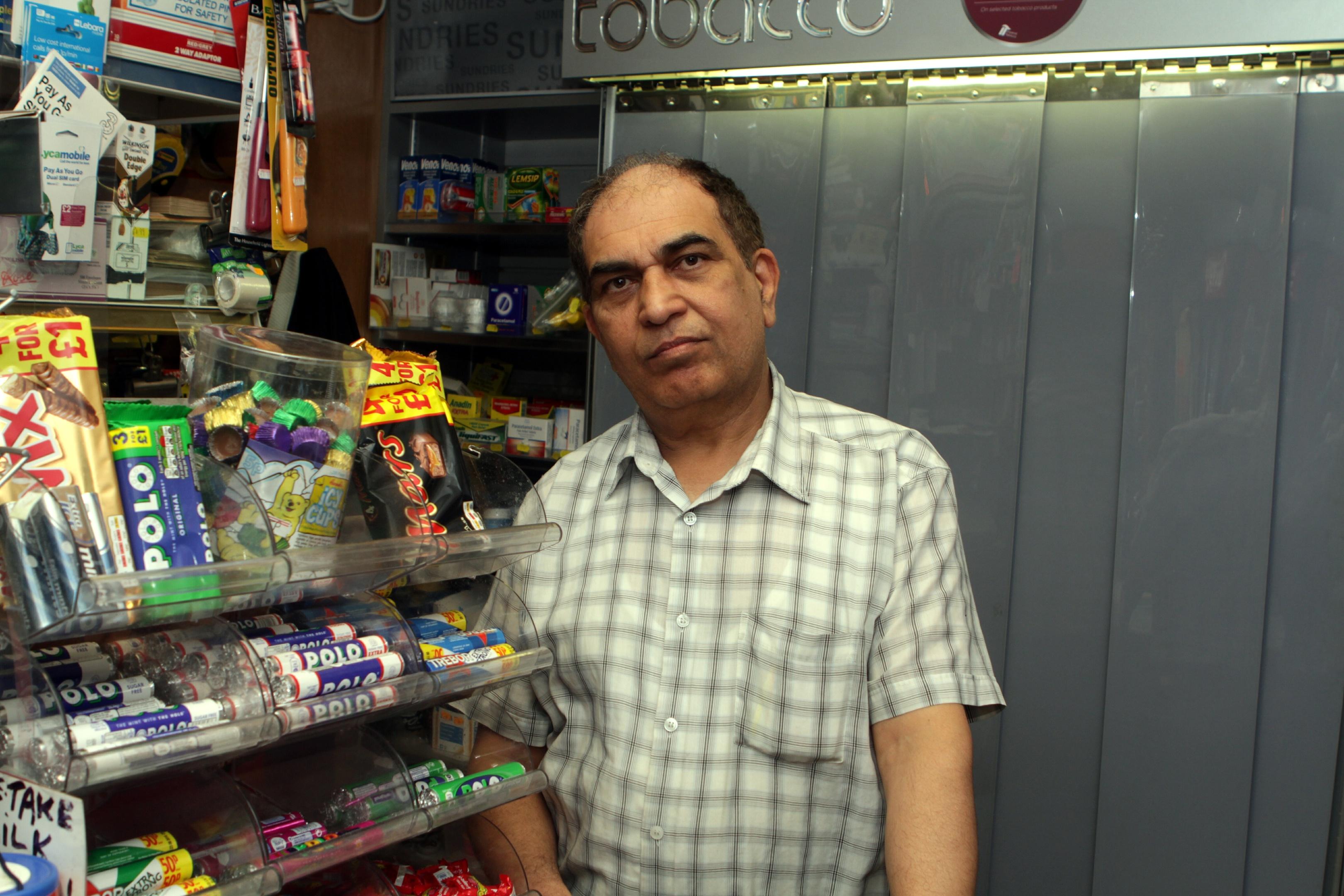 Mohammed Saleem following Saturday morning's shocking incident.