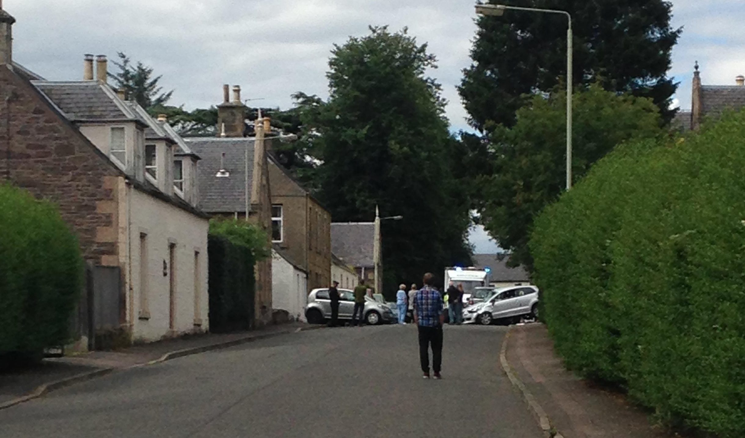 Accident in Montrose Road, Auchterarder.