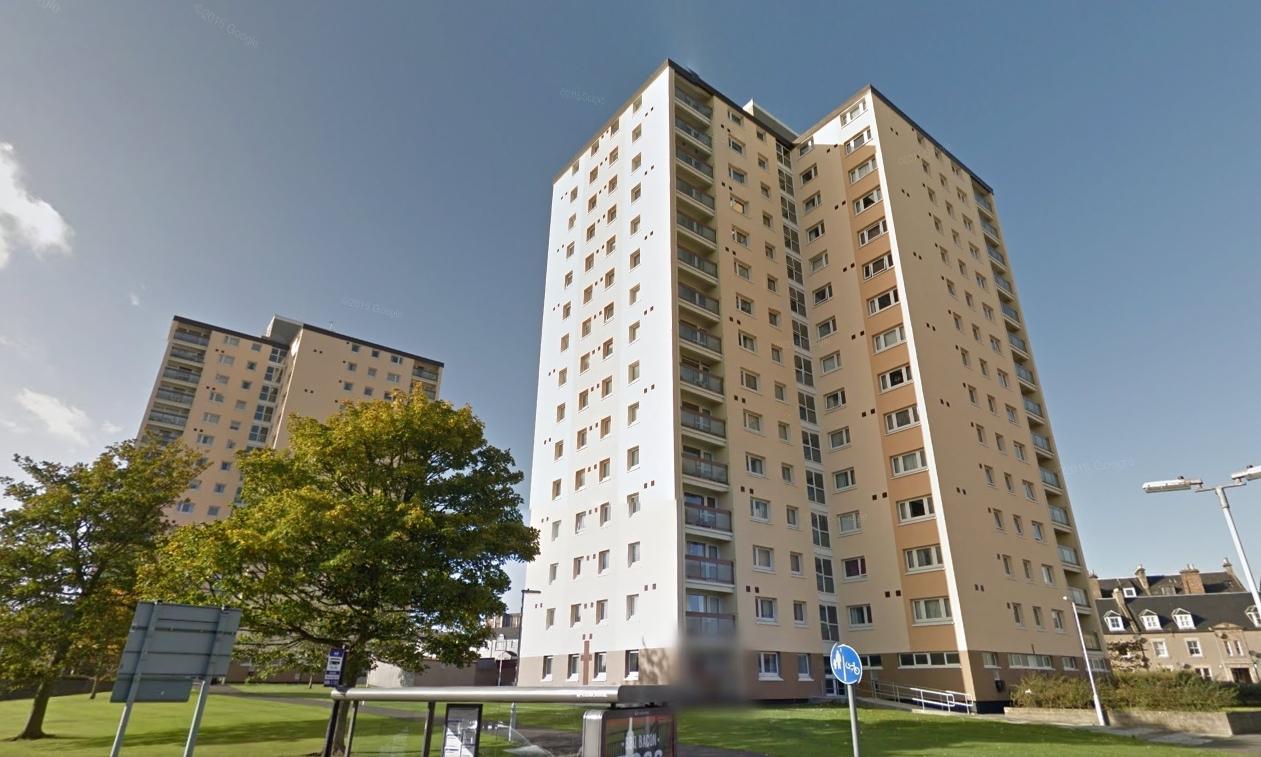 The Ravenscraig flats in Kirkcaldy.