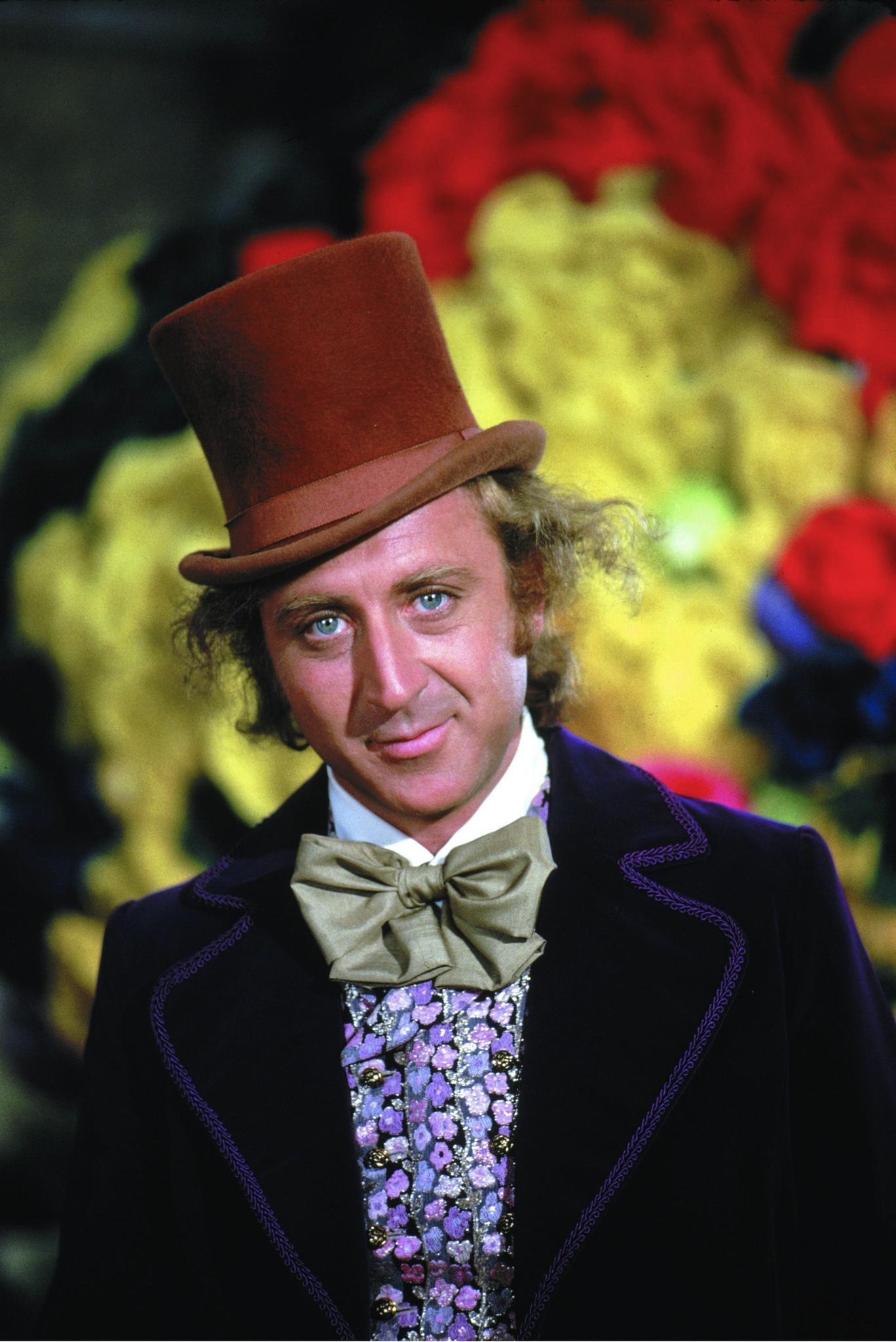 Gene Wilder in Willy Wonka character.