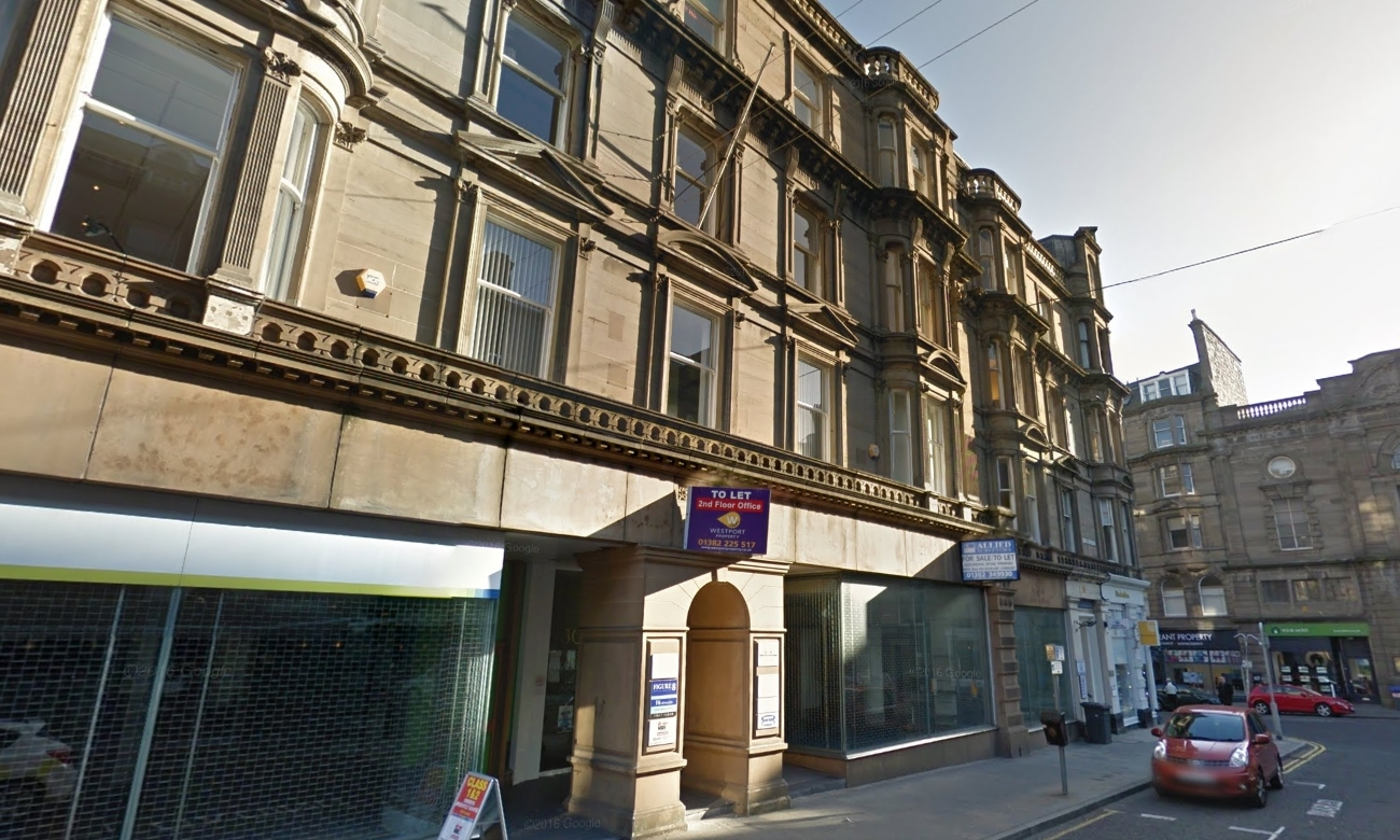 The pair broke into a company's offices in Whitehall Crescent in Dundee.