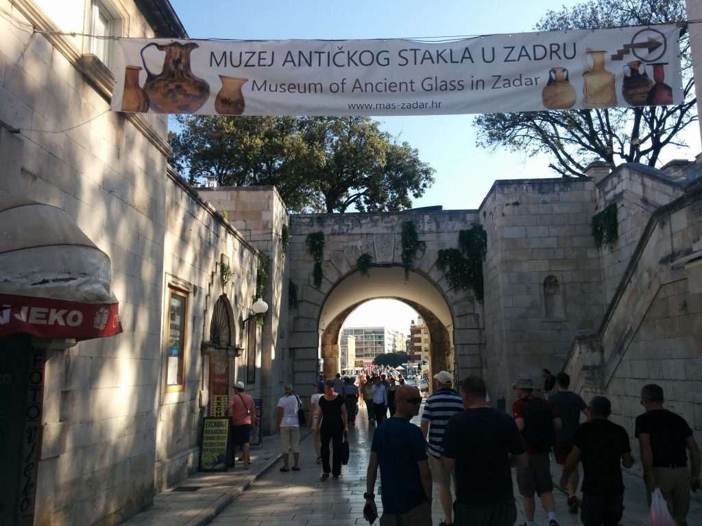 Tourists flock to the historic streets of the ancient Adriatic port city of Zadar