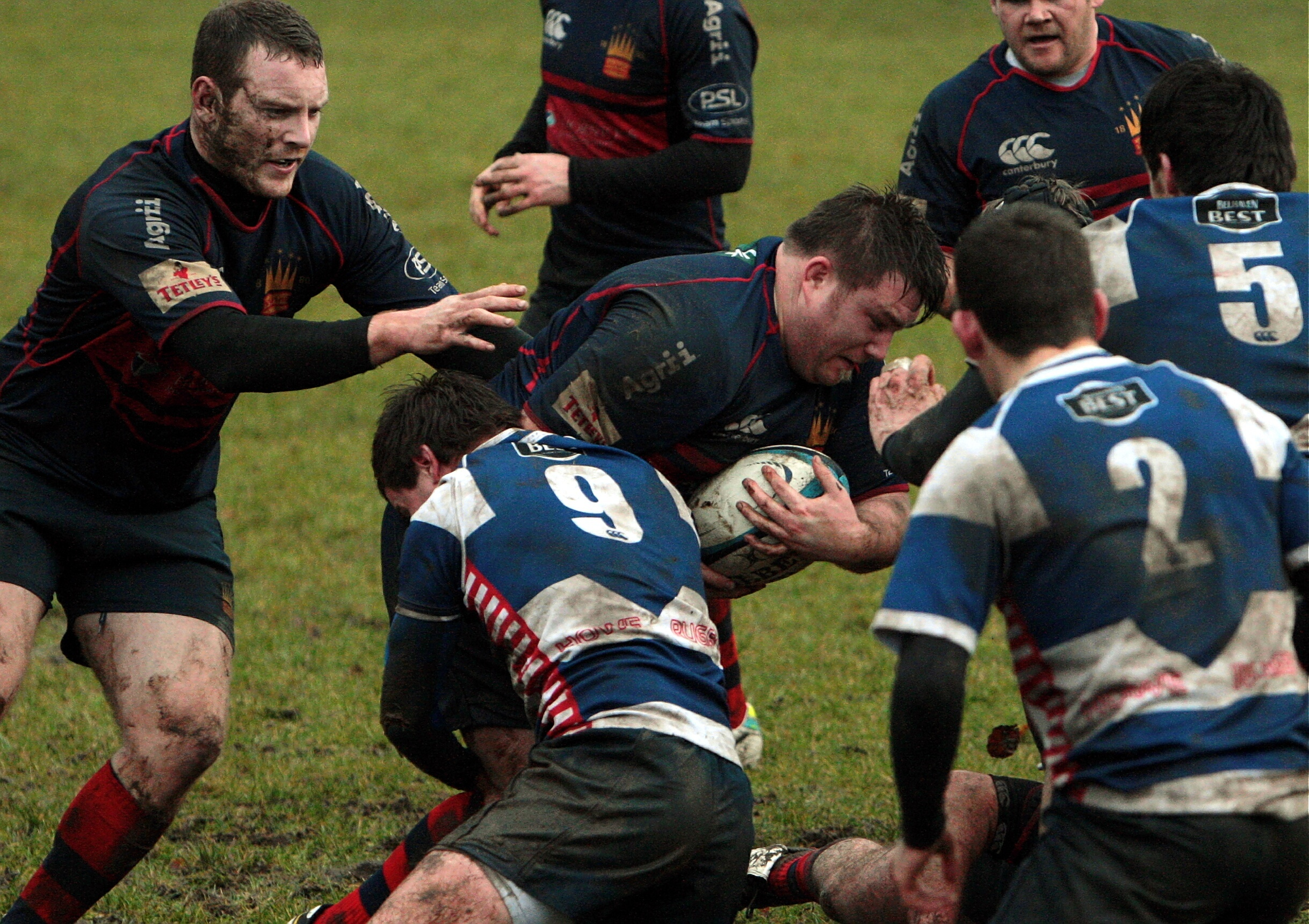 Powerful prop Neil Dymock was forced to fill in at hooker as injuries blighted Dundee High against Falkirk.