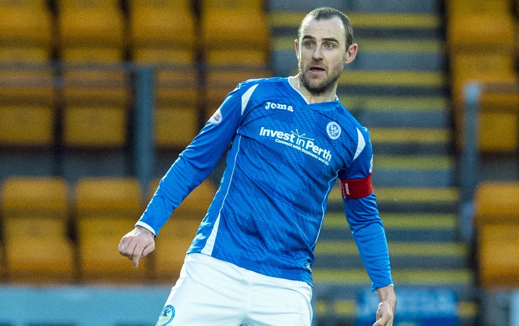 Dave MacKay in action for St Johnstone.