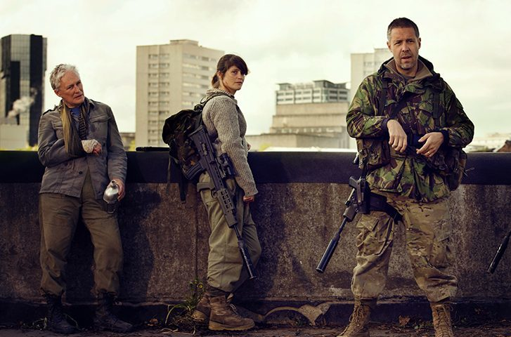 Glenn Close, Gemma Arterton and Paddy Considine in The Girl With All the Gifts