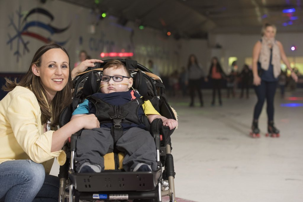 Blake and mum Jenny at the Forfar event