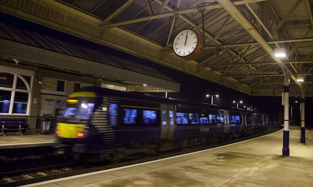 Clocks being decommissioned at Arbroath railway station..Pic Paul Reid......