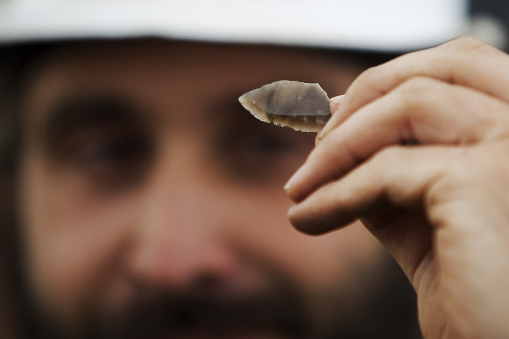 A possible arrowhead was found in the dig's early going.