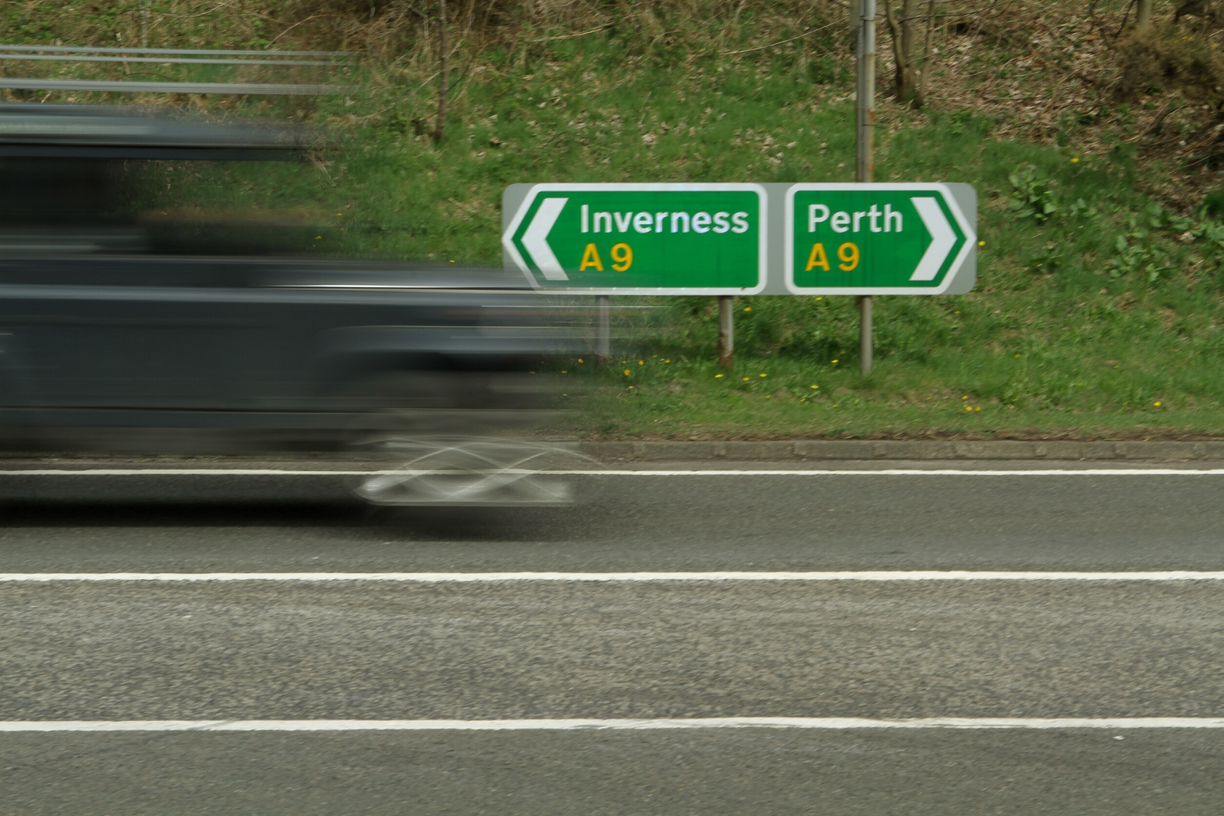 The A9 Perth to Inverness road.