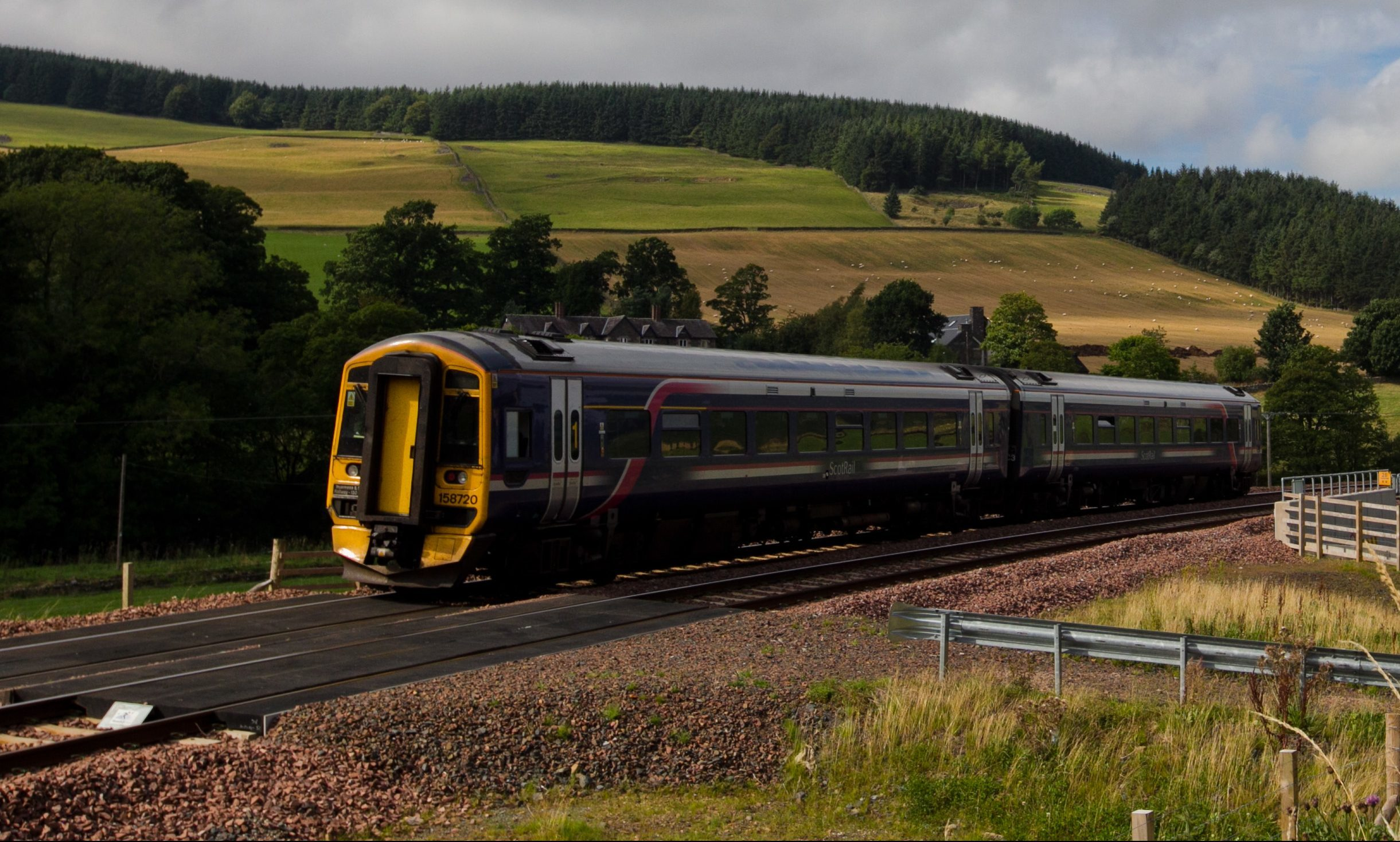 A service on the Borders Railway.