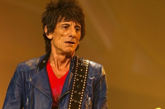Ronnie Wood of The Rolling Stones.