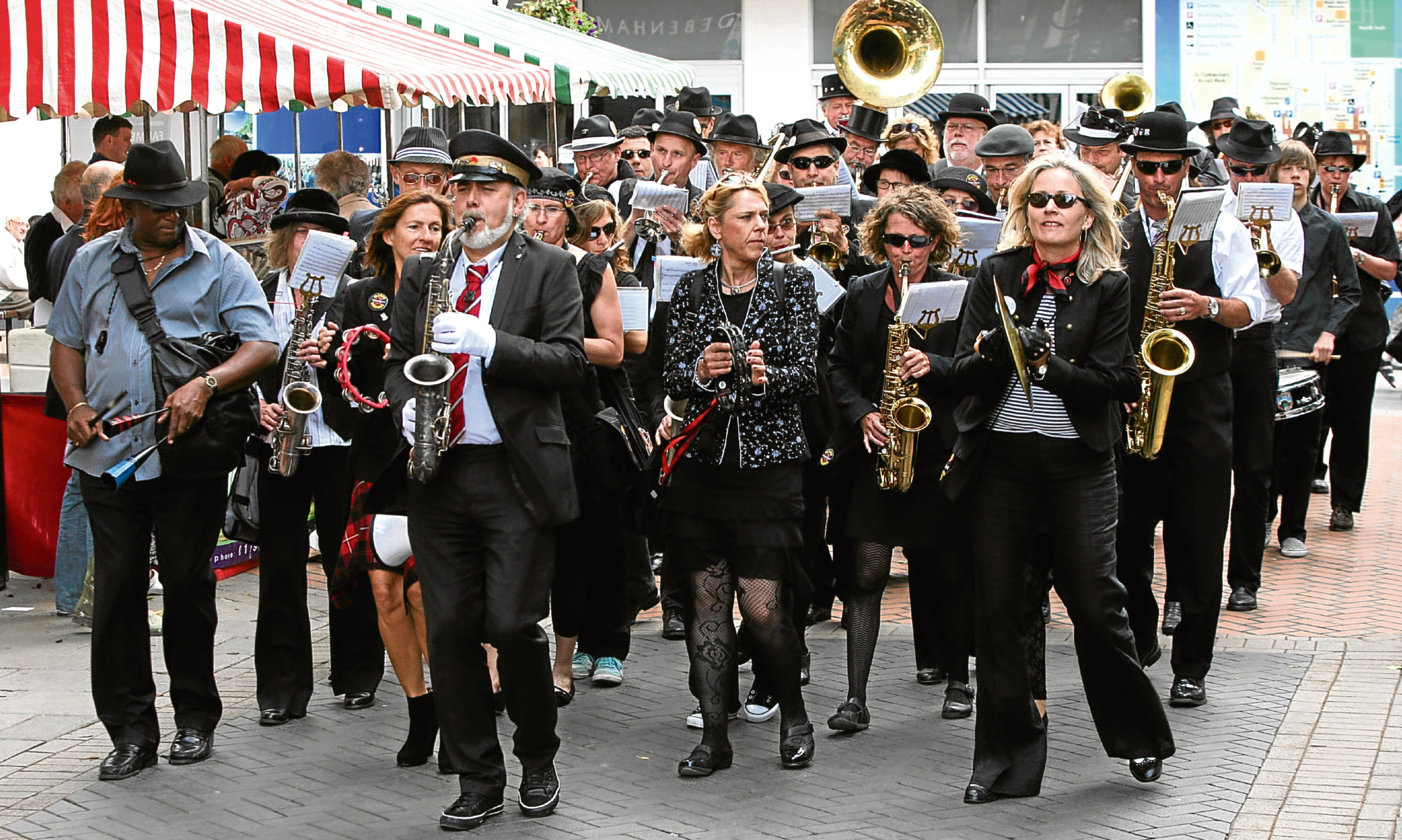 The March Mellows Street Band from Aschaffenburg, during an earlier visit to Perth.