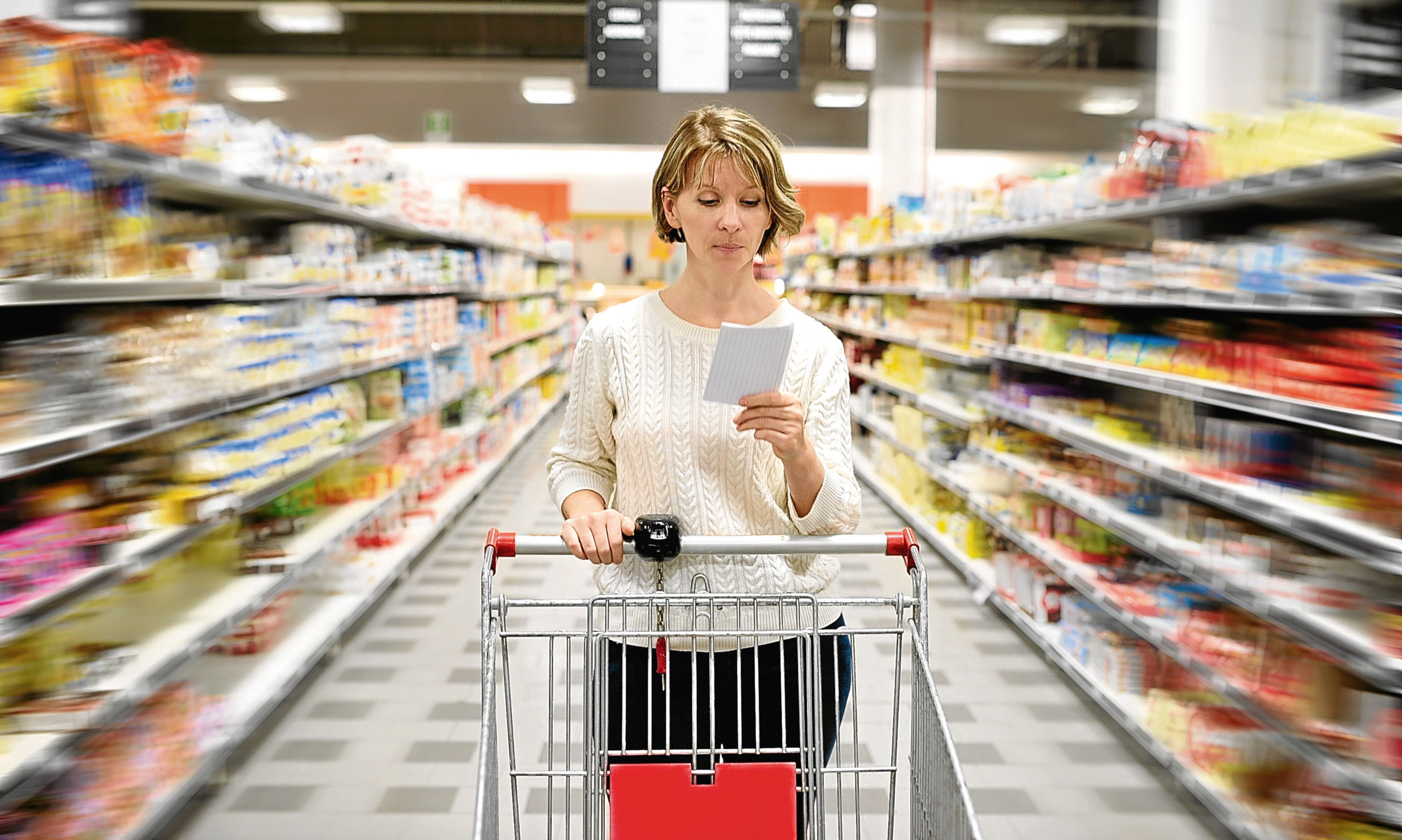 Grocery sales held up considerably better than the non-food sector in August