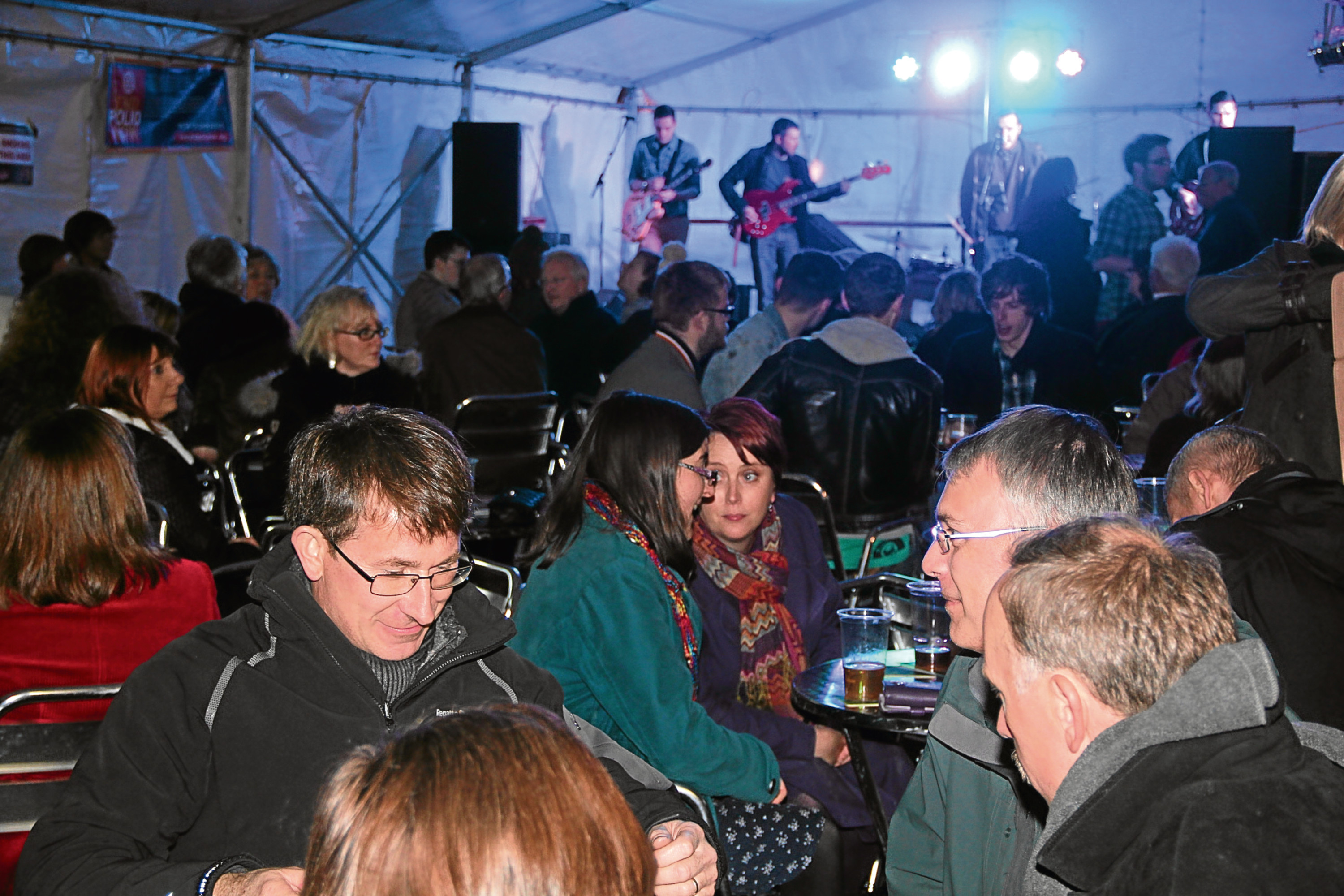 Music, food and beer at a previous Rotary Oktoberfest.