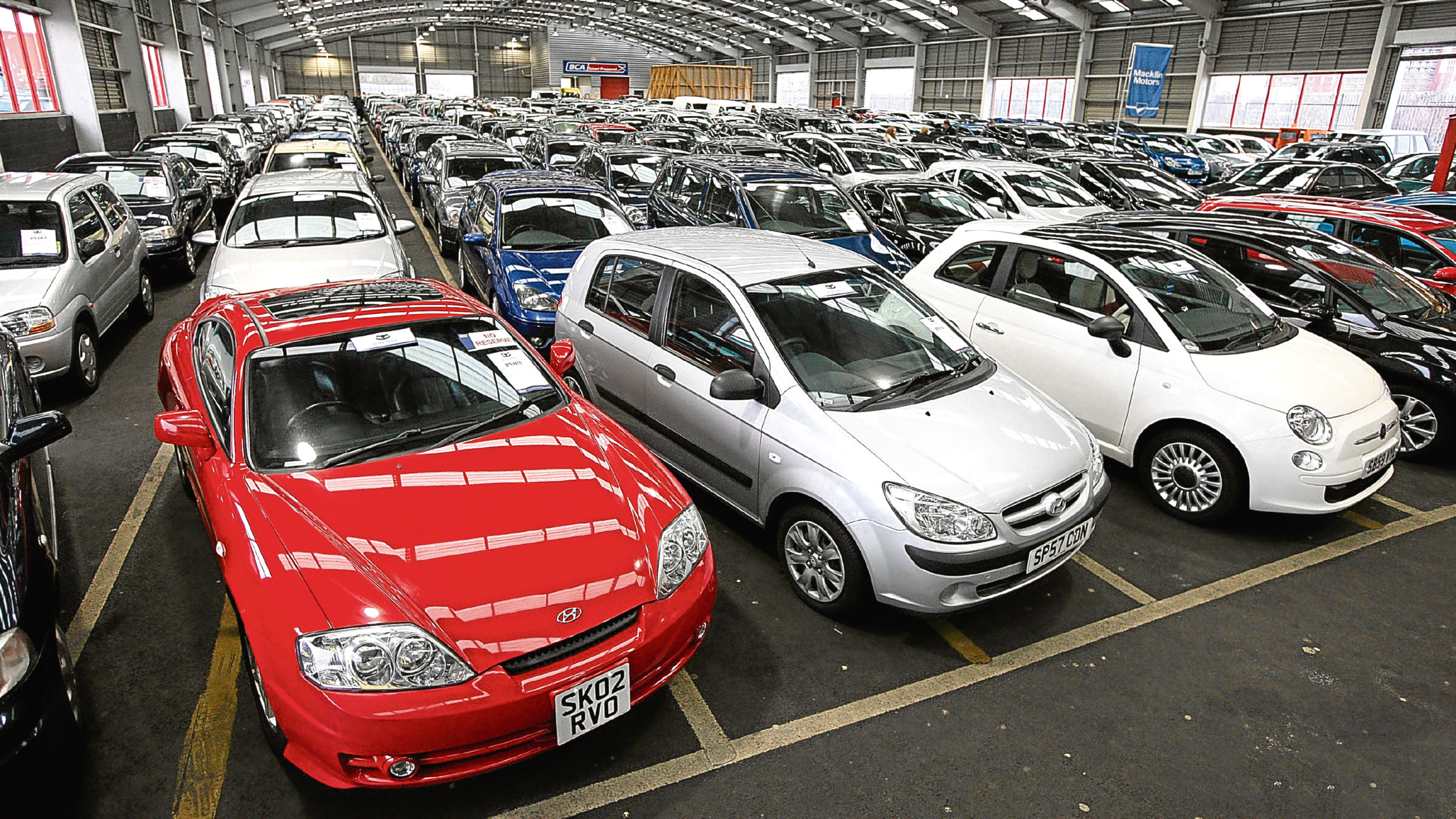 Undated Handout Photo of cars ready for auction. See PA Feature MOTORING Column. Picture credit should read: PA Photo/BCA. WARNING: This picture must only be used to accompany PA Feature MOTORING Column.