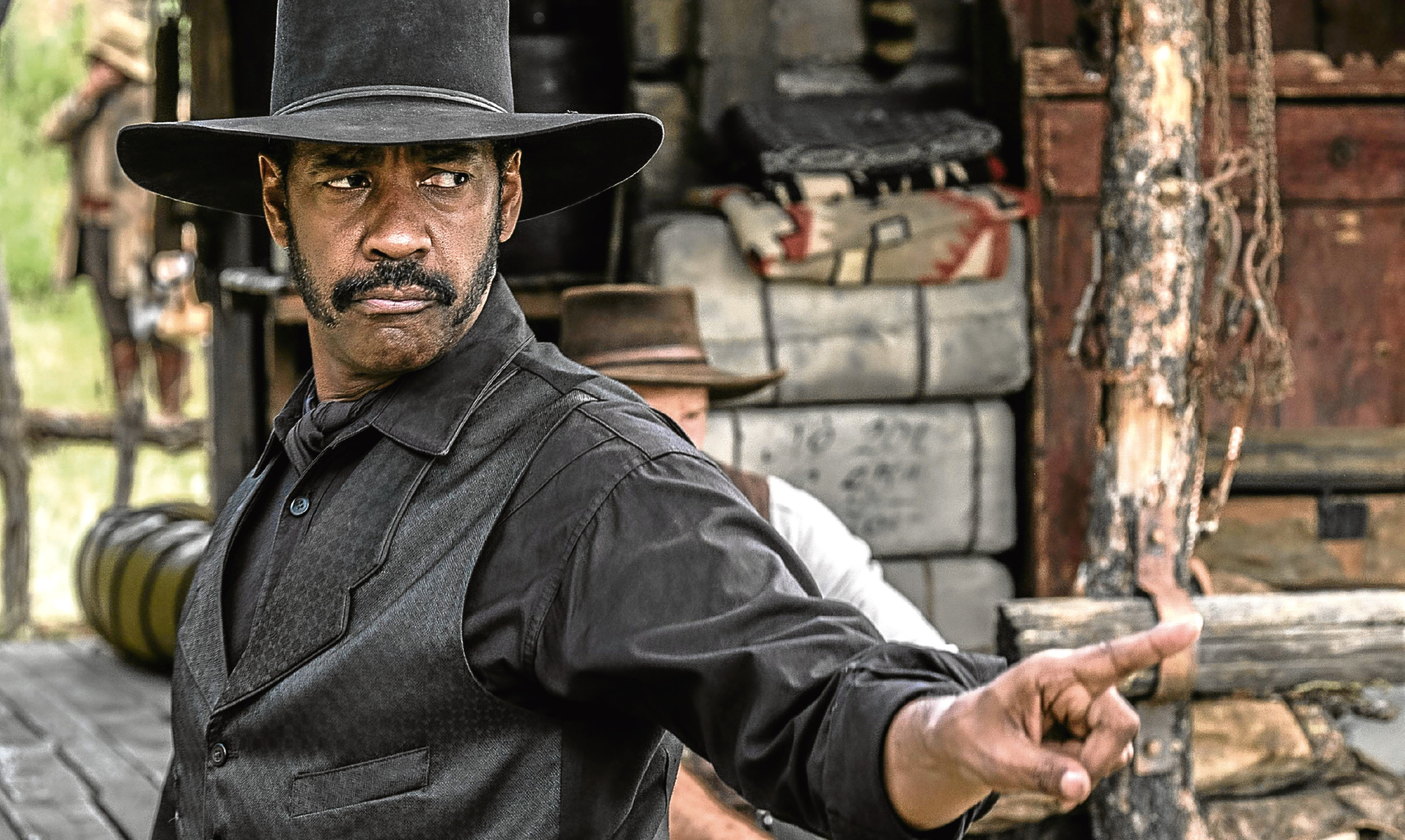 Denzel Washington in the remake of the Magnificent Seven, which has infuriated Jim, an ardent fan of the original.