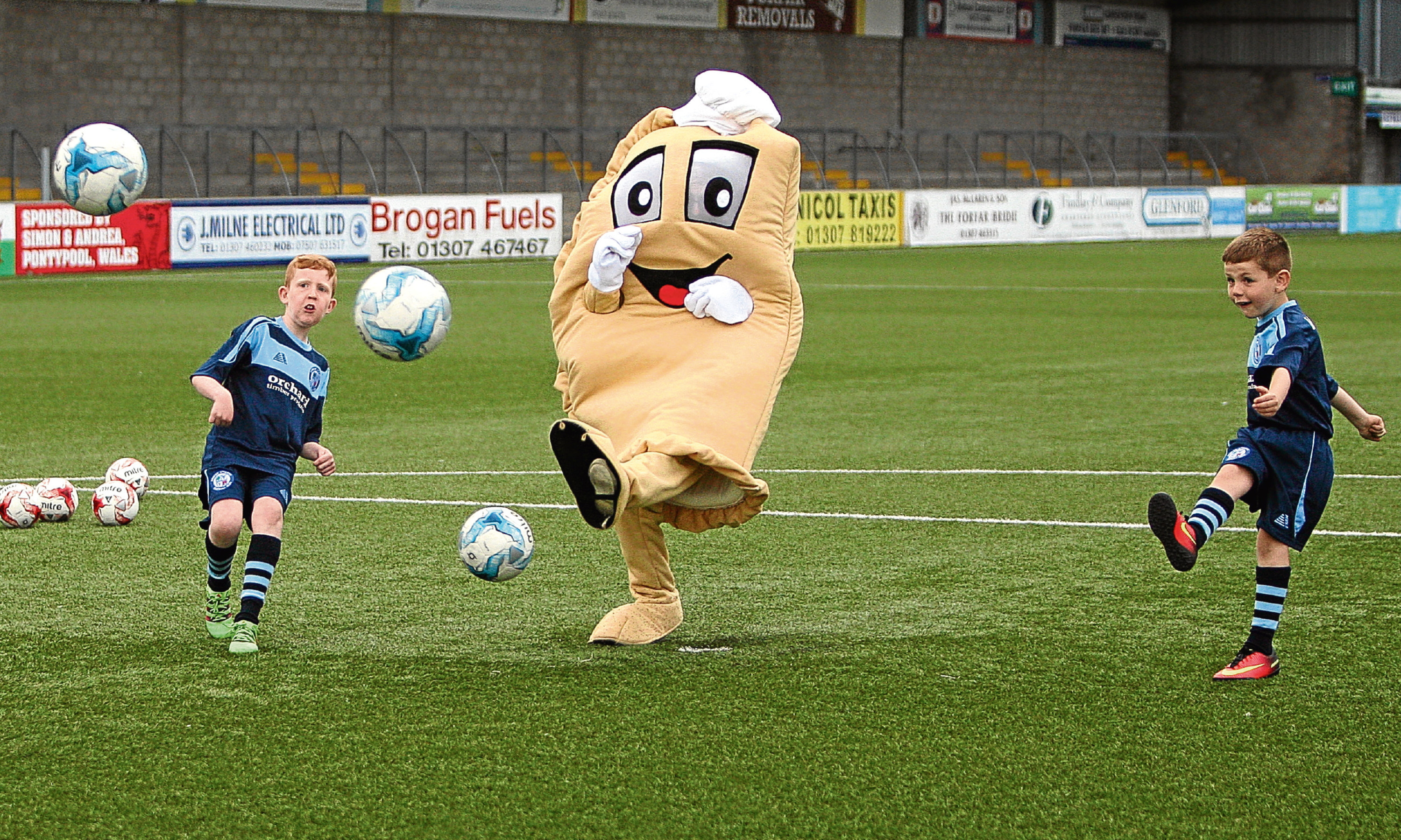 Baxter the Bridie, who seems to have brought a streak of success to Forfar Athletic.