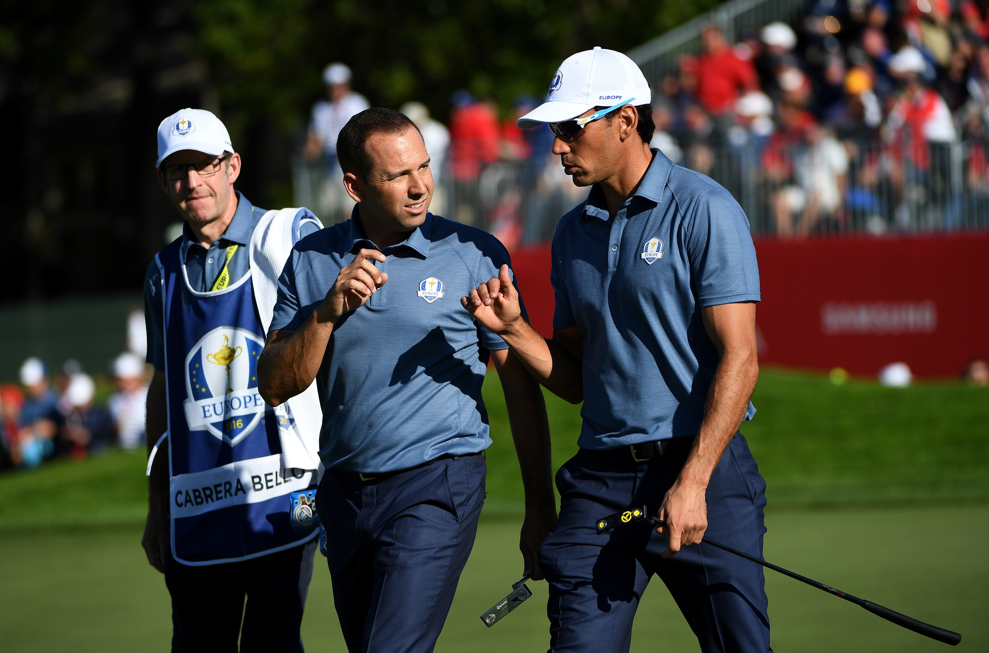Sergio Garcia and Rafa Cabrera Bello combined to snatch a bit point for Europe.
