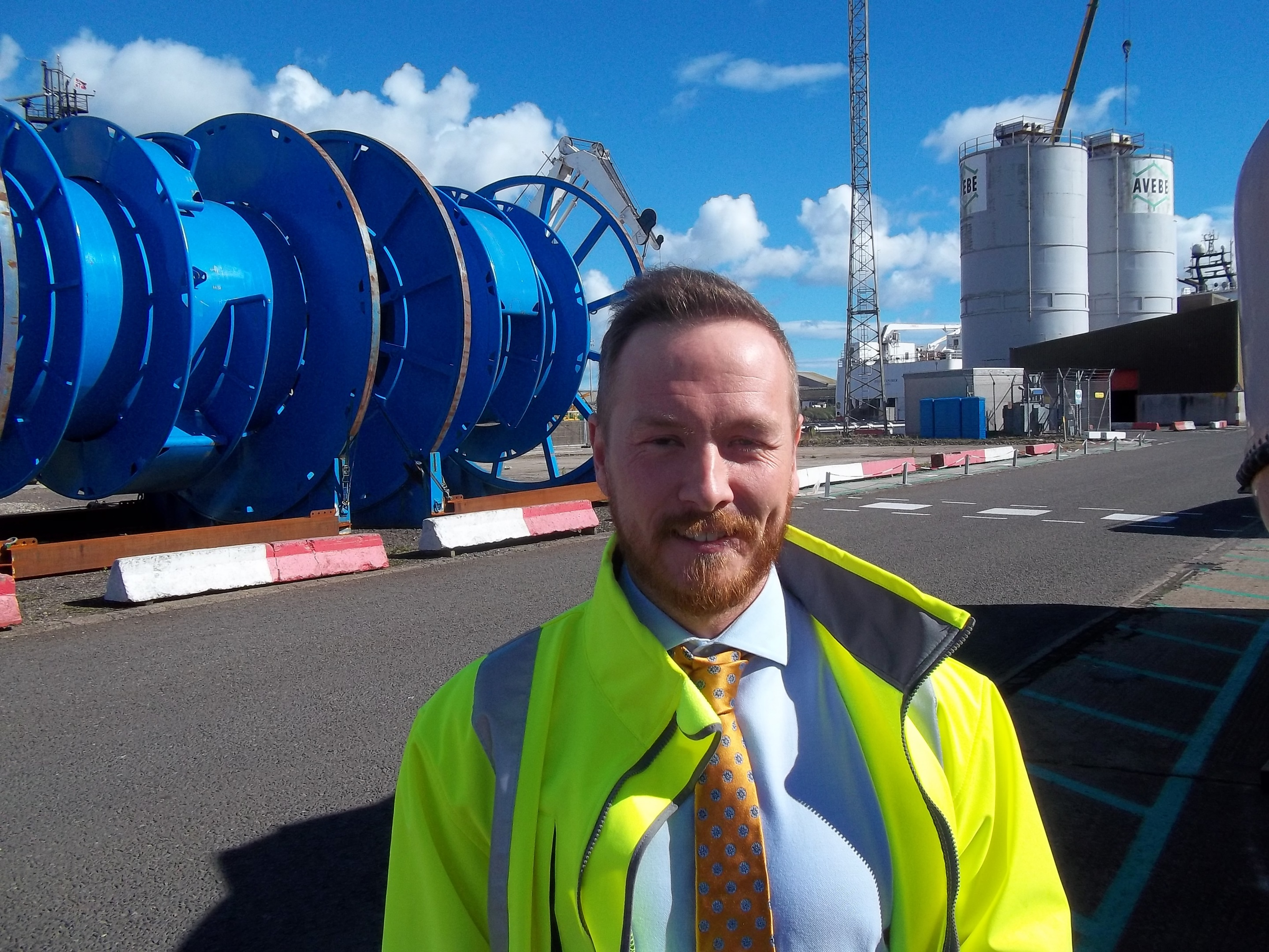 Andy Ross, Montrose Port Authority's first business development  manager.