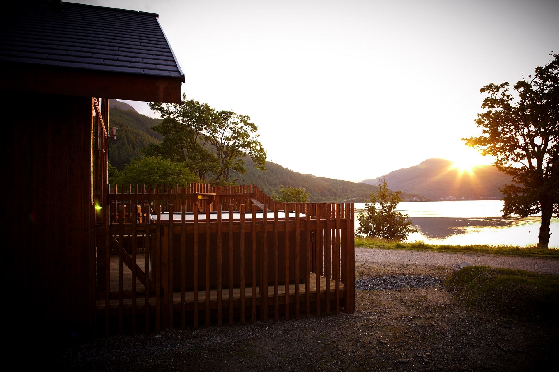 The view from the MacCallum family's cabin at Ardgartan.