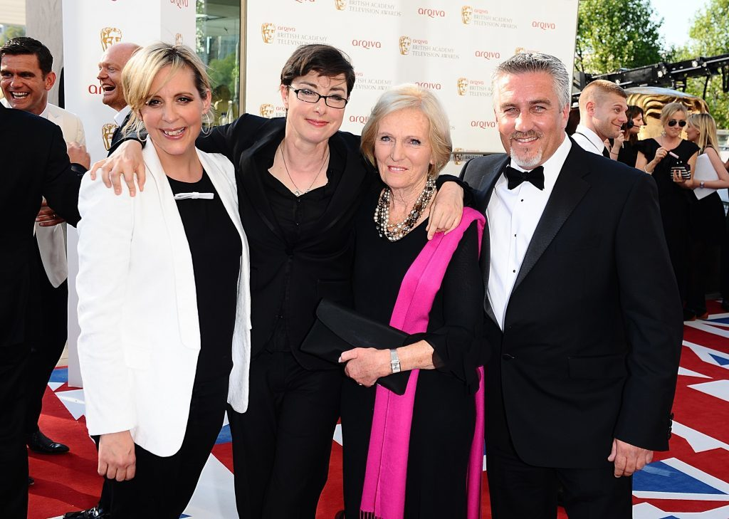 Judges and presenters Mel Giedroyc, Sue Perkins, Mary Berry and Paul Hollywood.