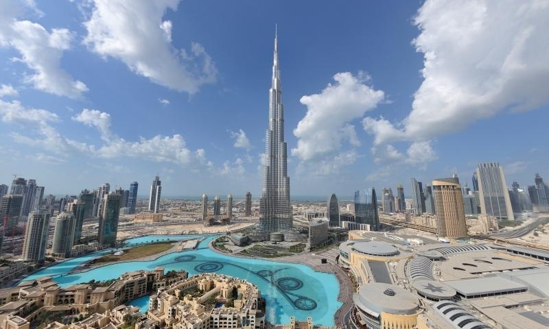 Dubai Skyline with the Burji Khalifa